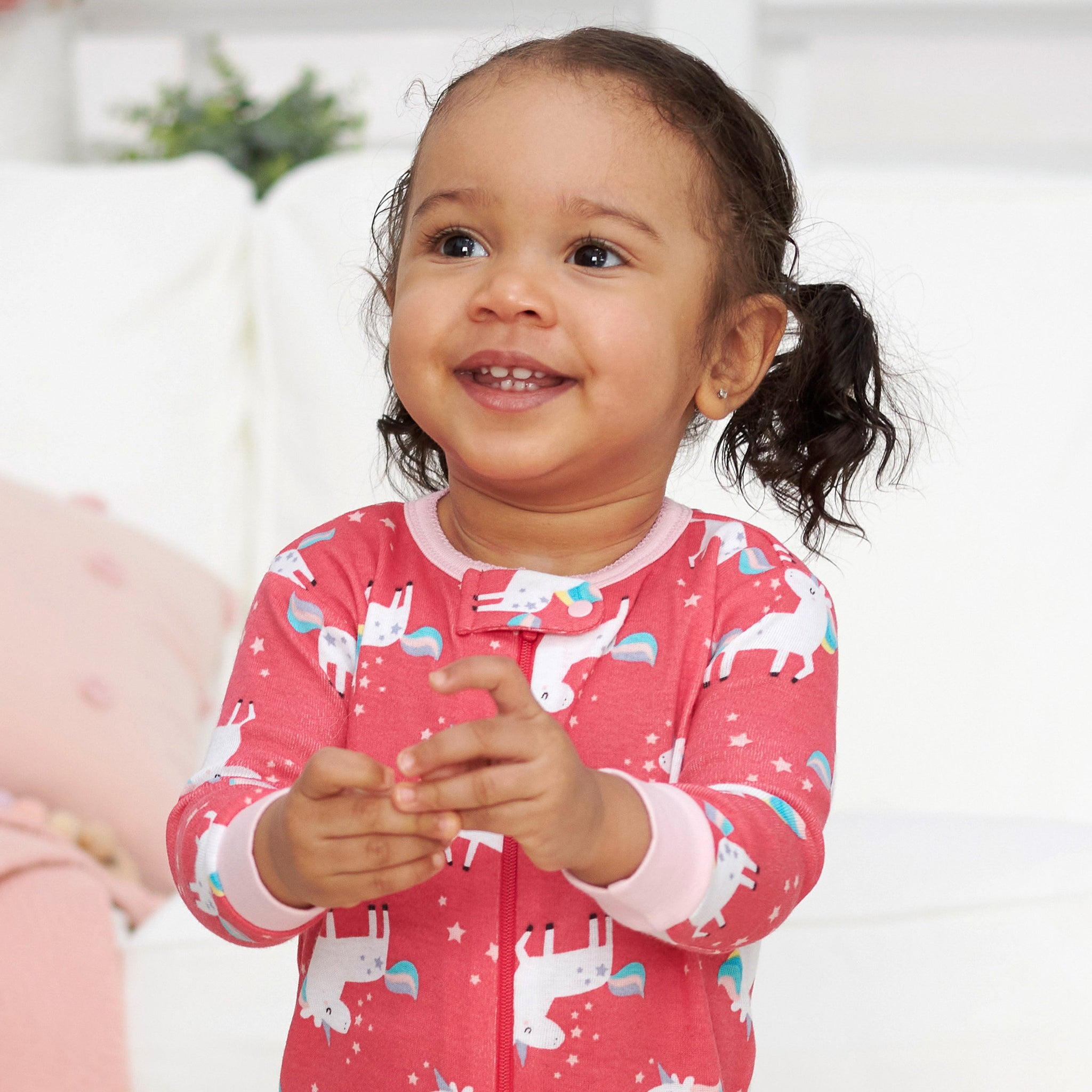 Gerber® 2-Pack Girls Unicorn Footed Pajamas