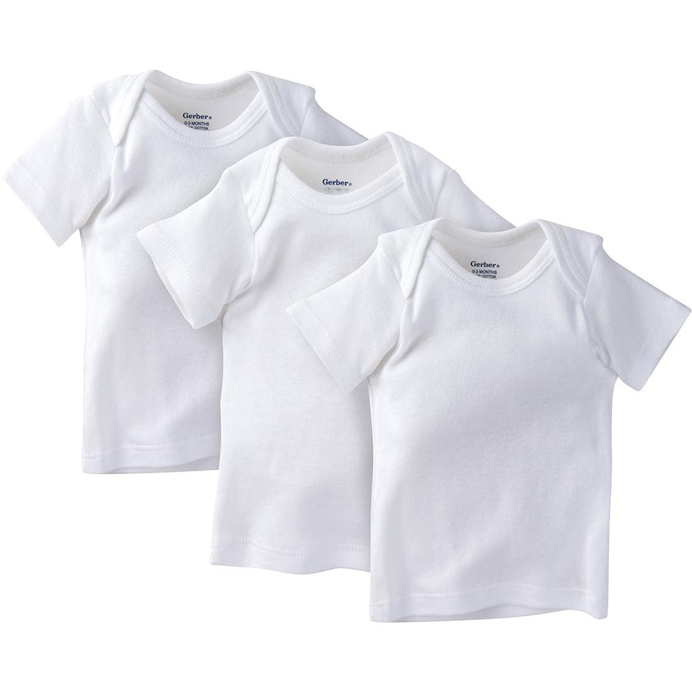 3-Pack White Slip-On Short Sleeve Shirt