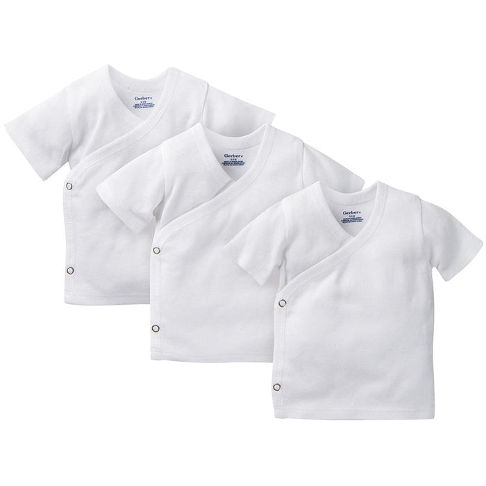 79cbc4f6fdc3 3-Pack White Side-Snap Short Sleeve Shirts - Onesies® Baby Bodysuits ...