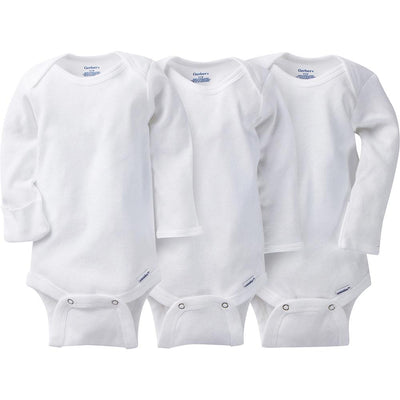 3-Pack White Onesies® Brand Long Sleeve Bodysuits with Mitten ...