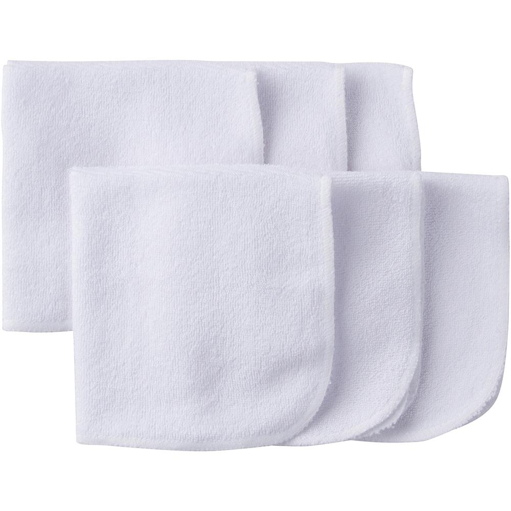 6-Pack White Terry Washcloths-Gerber Childrenswear