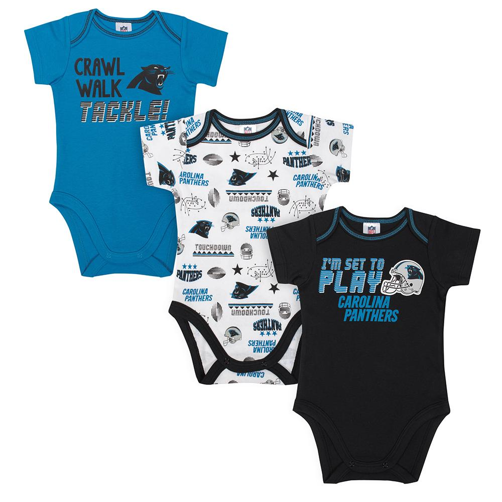 Panthers Baby Boys 3-Pack Short Sleeve Bodysuit-Gerber Childrenswear