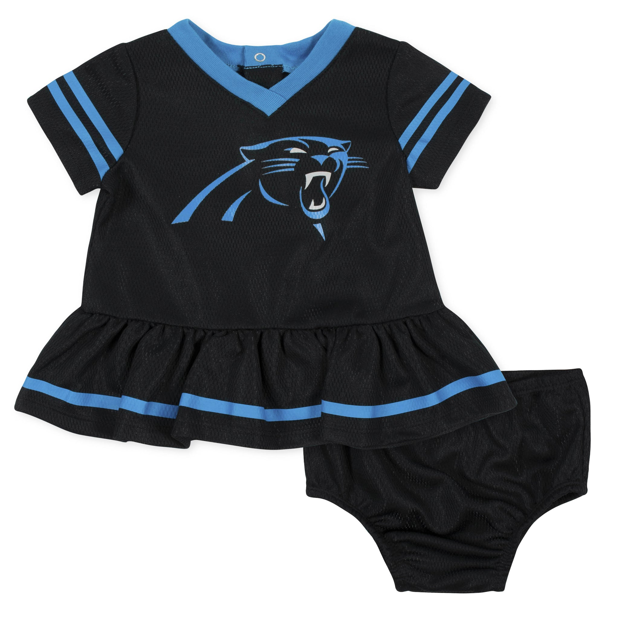 Baby Girls Carolina Panthers Cheerleader Dress and Panty Set