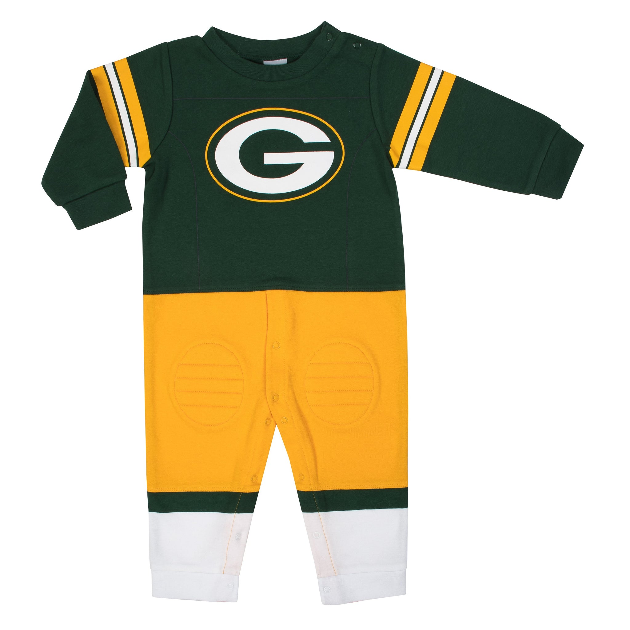 Green Bay Packers Baby Boys Footysuit-Gerber Childrenswear