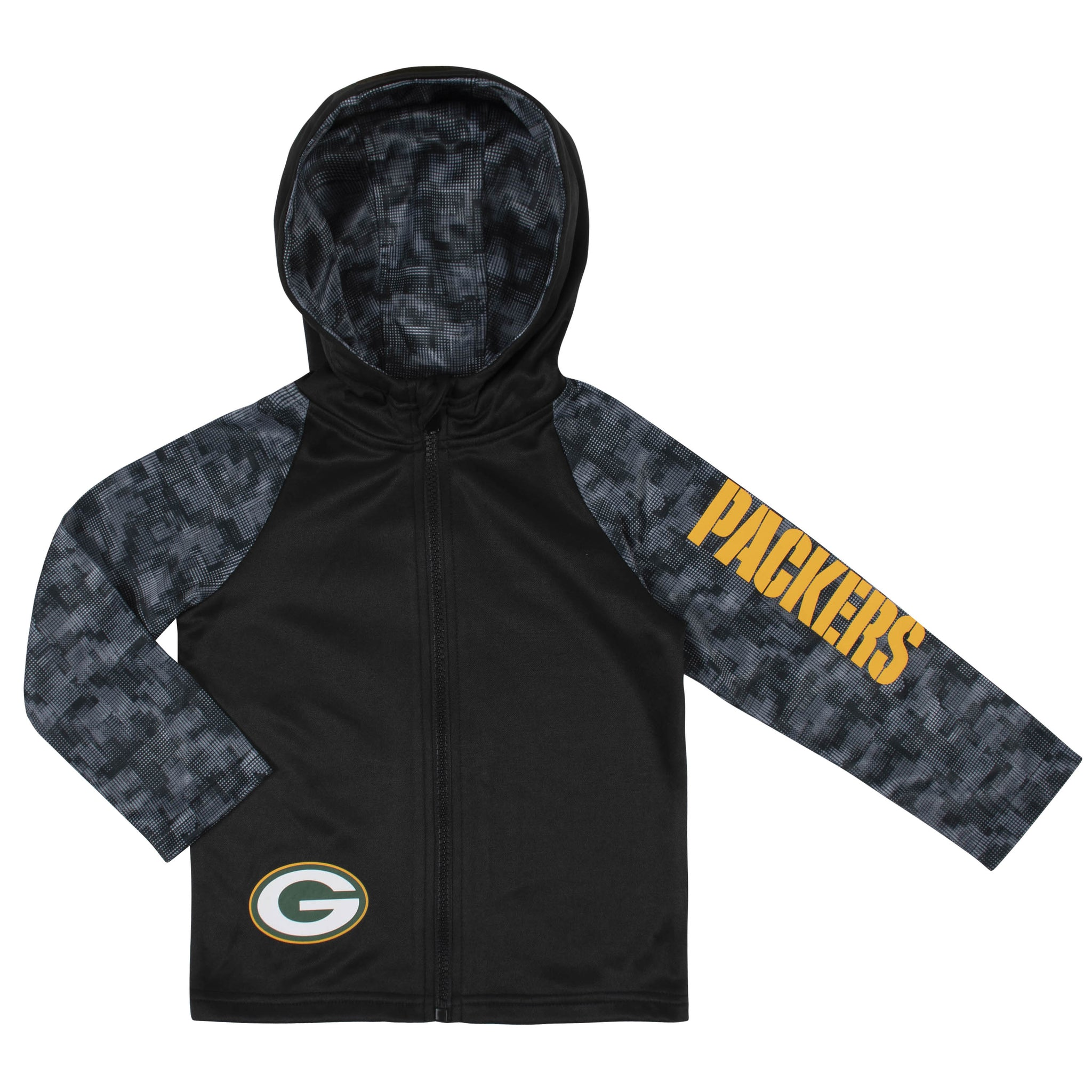 Toddler Boys Green Bay Packers Hooded Jacket-Gerber Childrenswear