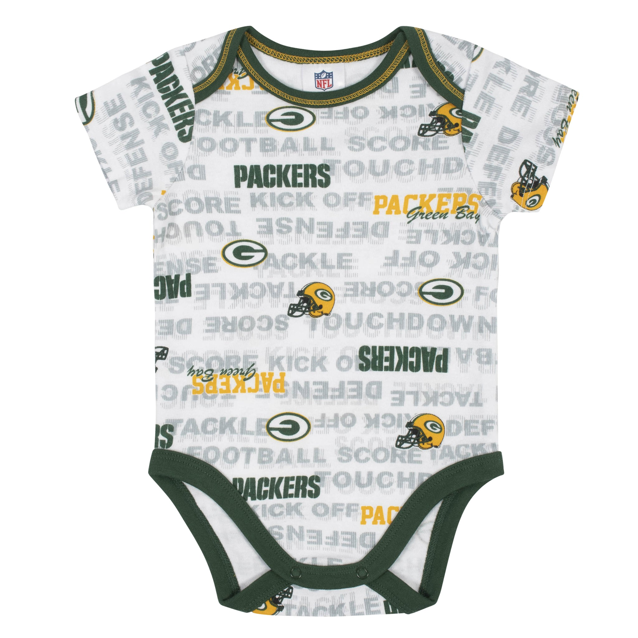 Baby Boys 3-Piece Green Bay Packers Bodysuit, Cap, and Bib Set