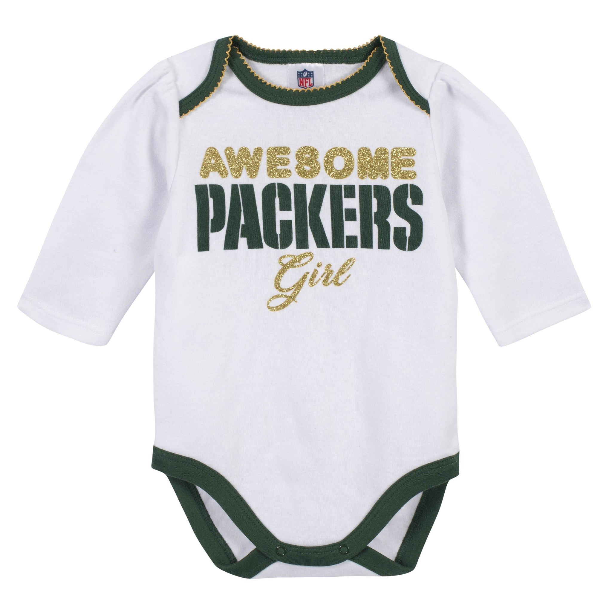 Baby Girls Green Bay Packers 3-Piece Bodysuit, Pant, and Cap Set-Gerber Childrenswear