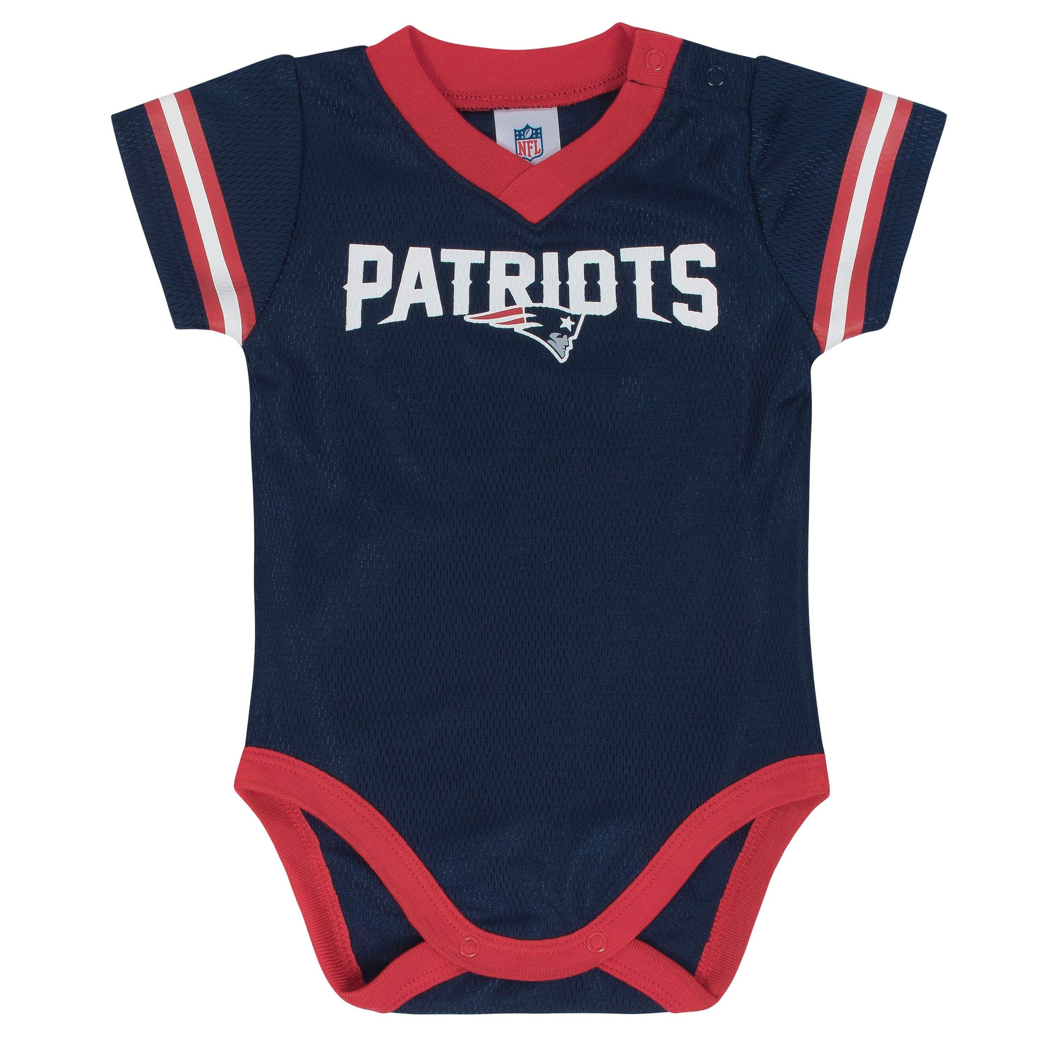 Baby Boys New England Patriots Short Sleeve Jersey Bodysuit-Gerber Childrenswear