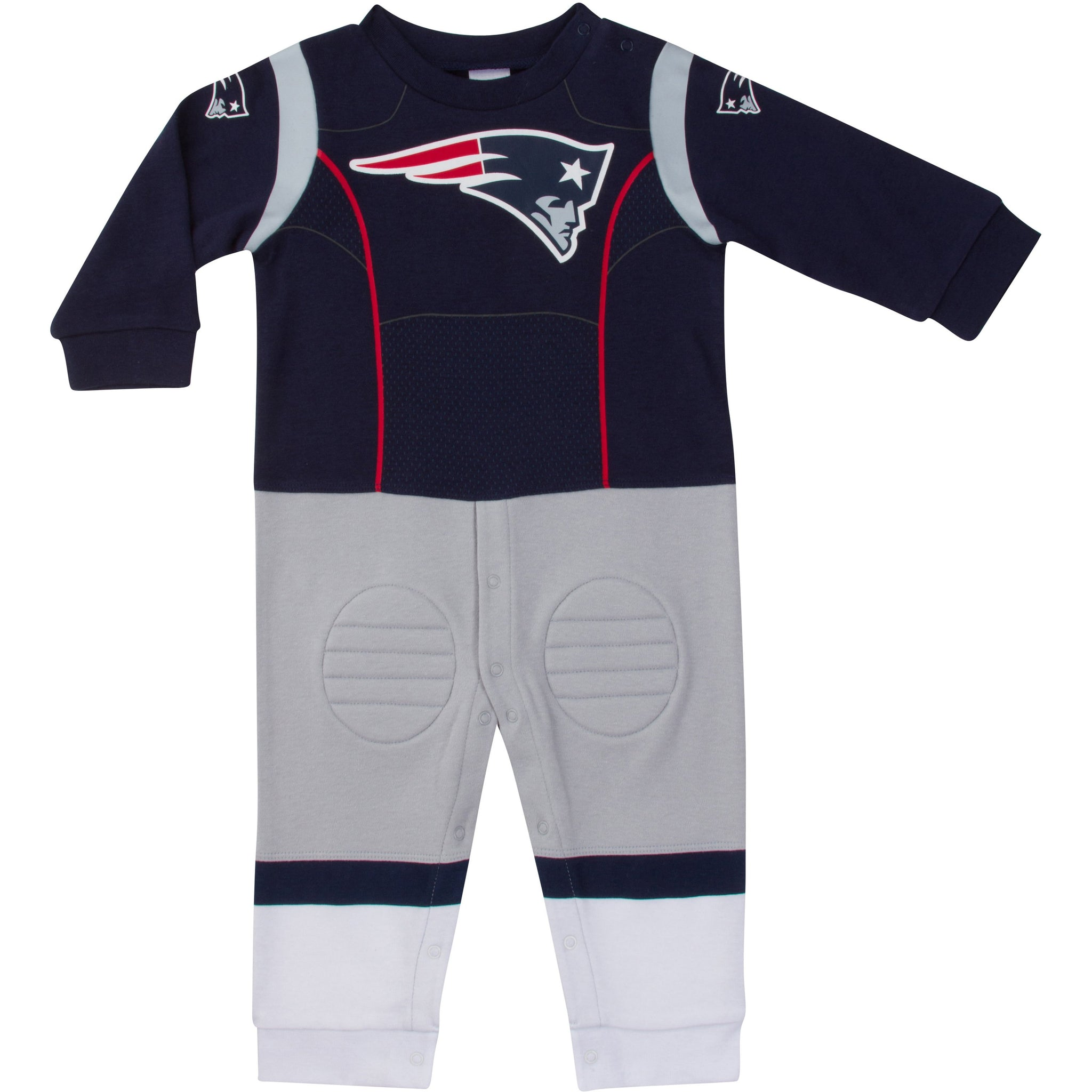 New England Patriots Baby Boys Footysuit