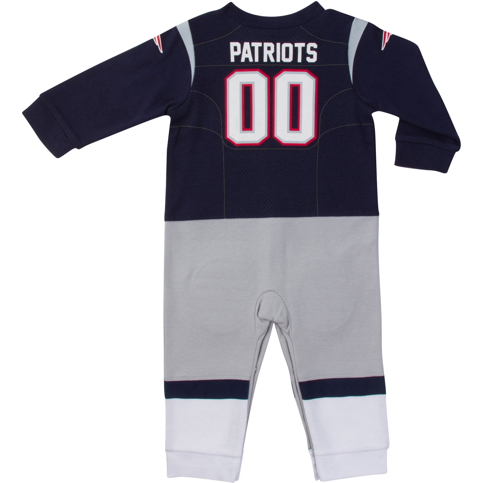 New England Patriots Baby Boys Footysuit-Gerber Childrenswear