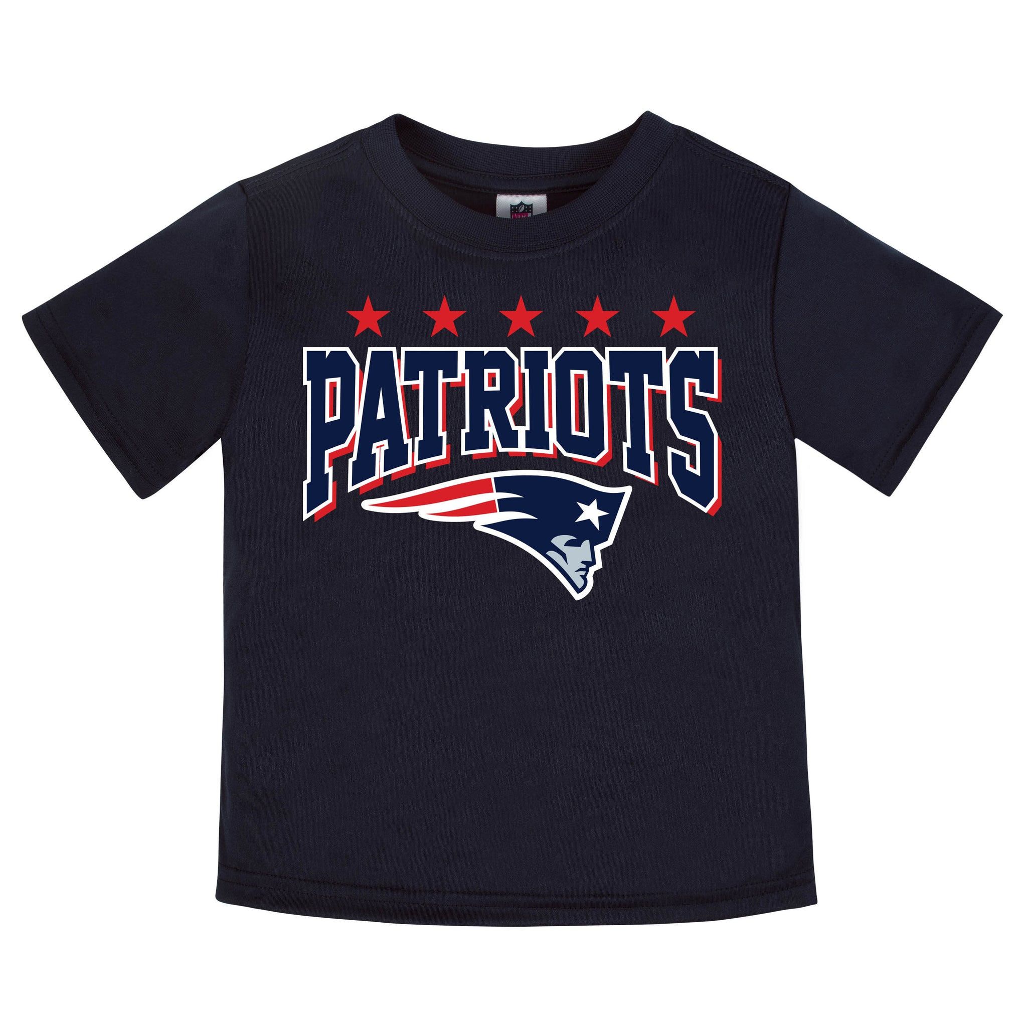 New England Patriots Boys Short Sleeve Tee Shirt-Gerber Childrenswear
