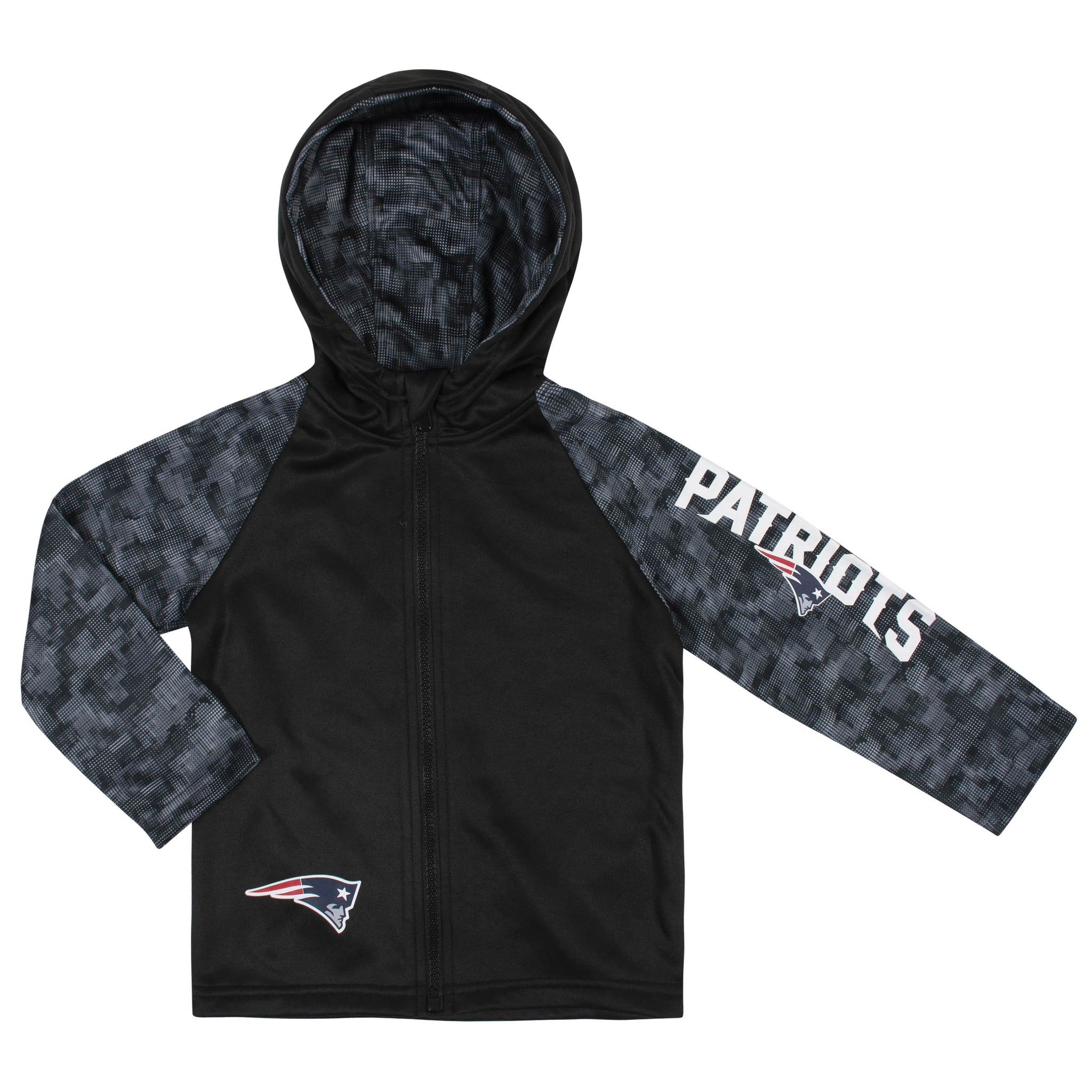 Toddler Boys New England Patriots Hooded Jacket-Gerber Childrenswear