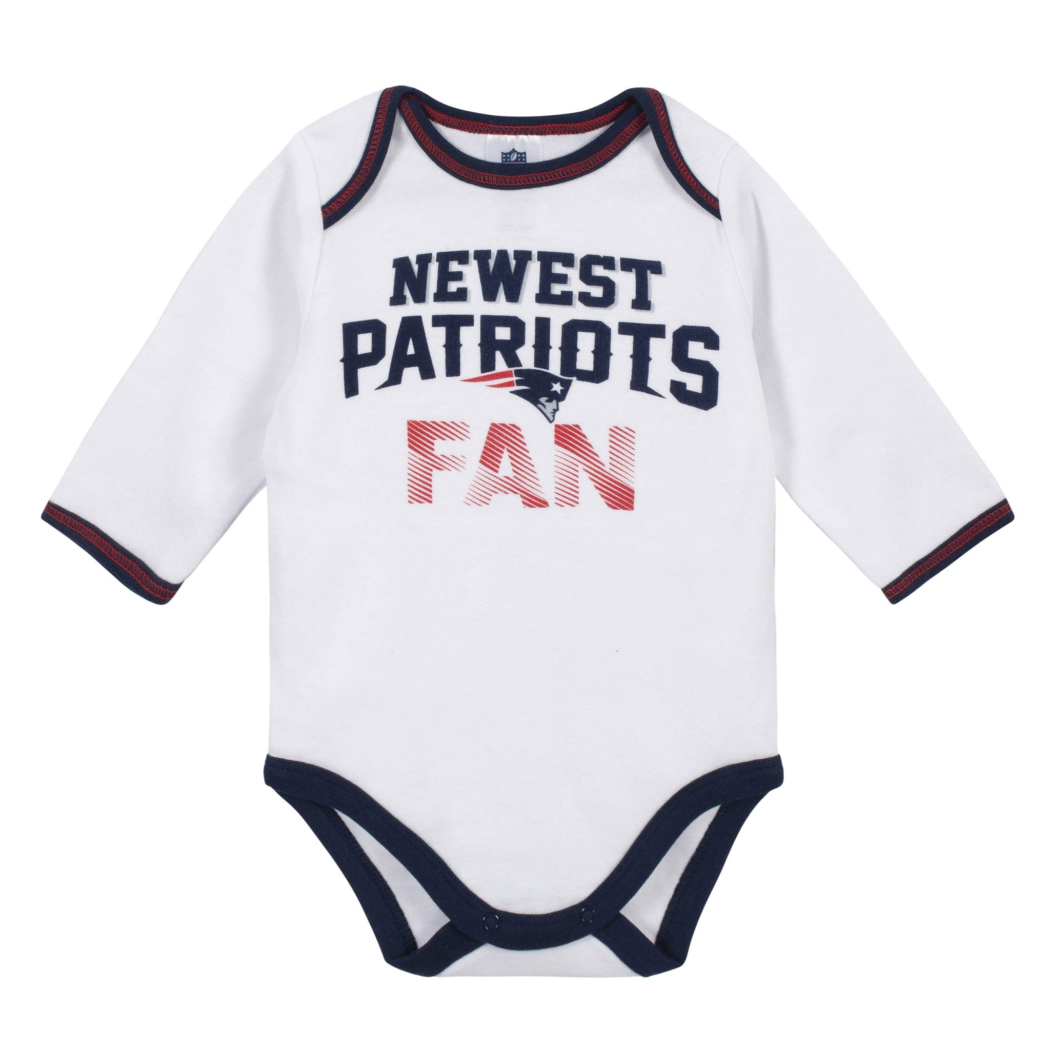 Baby Boys New England Patriots 3-Piece Bodysuit, Pant and Cap Set-Gerber Childrenswear