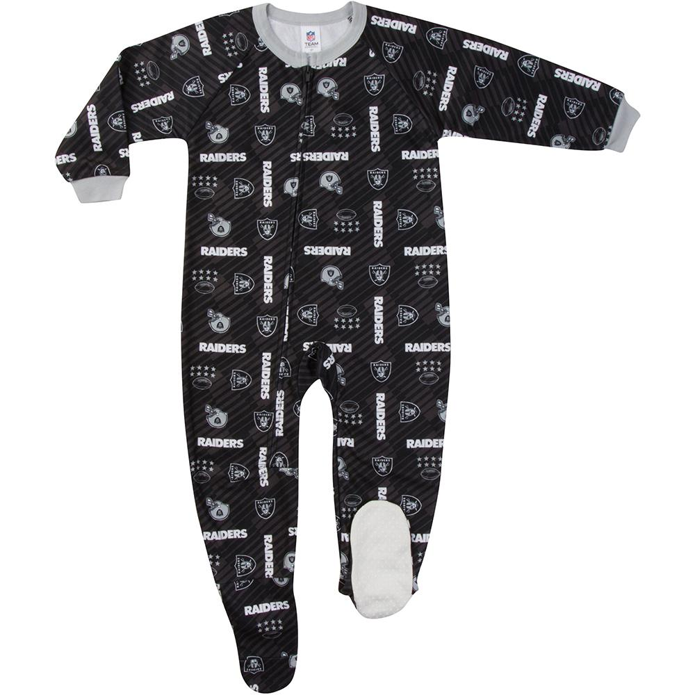 Las Vegas Raiders Toddler Blanket Sleeper-Gerber Childrenswear