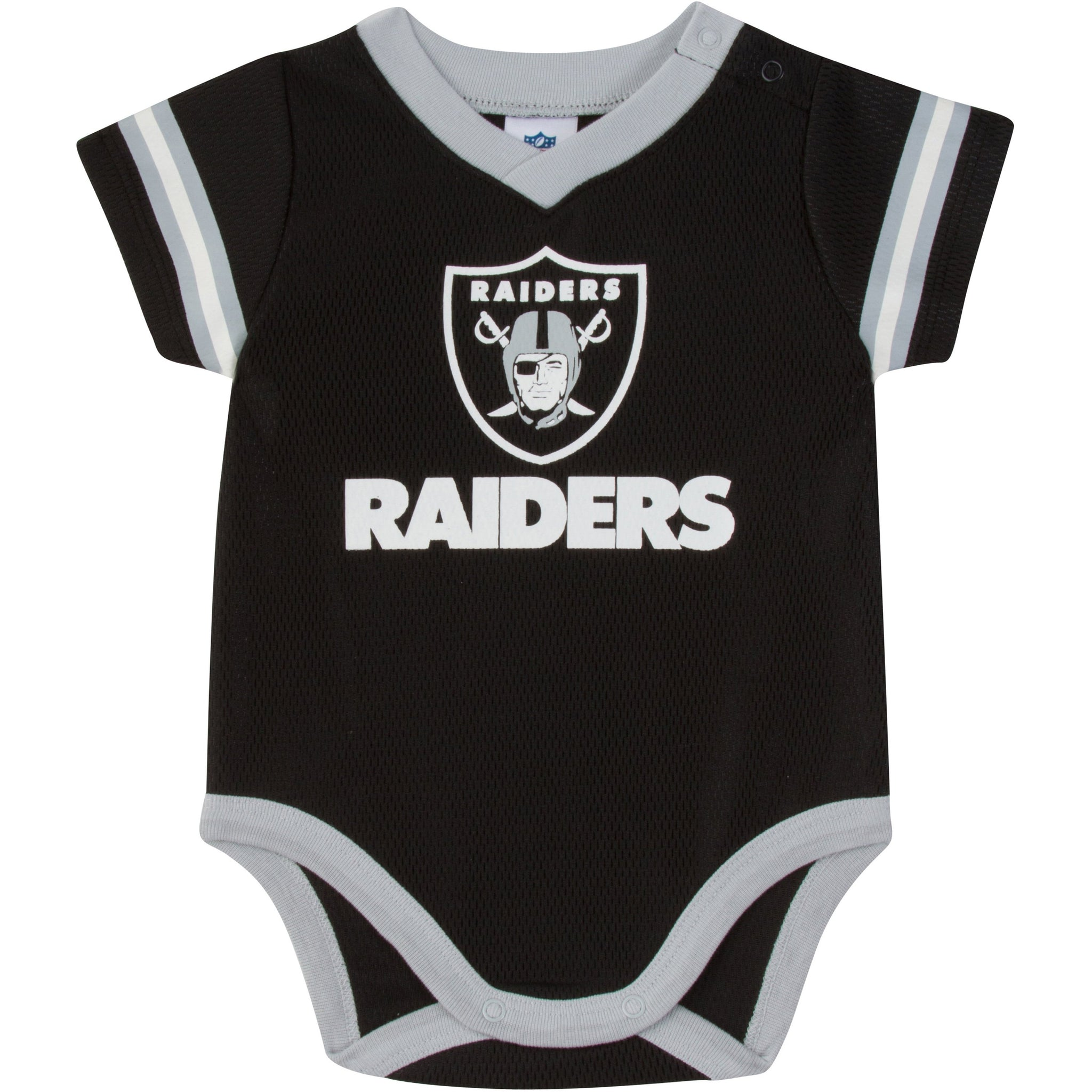Oakland Raiders Baby Boys Dazzle Short Sleeve Bodysuit