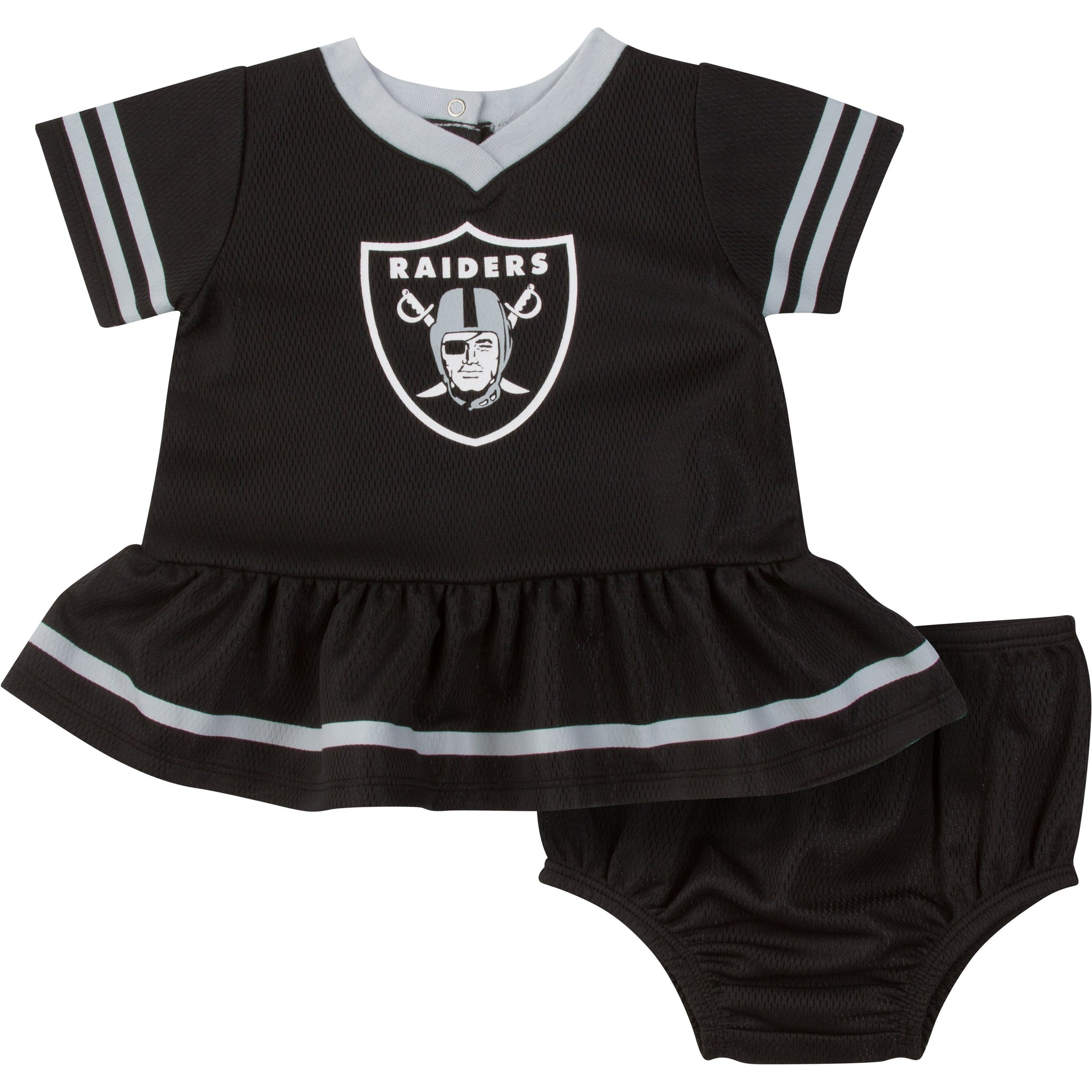 Las Vegas Raiders Girls Cheerleader Dress and Panty Set-Gerber Childrenswear