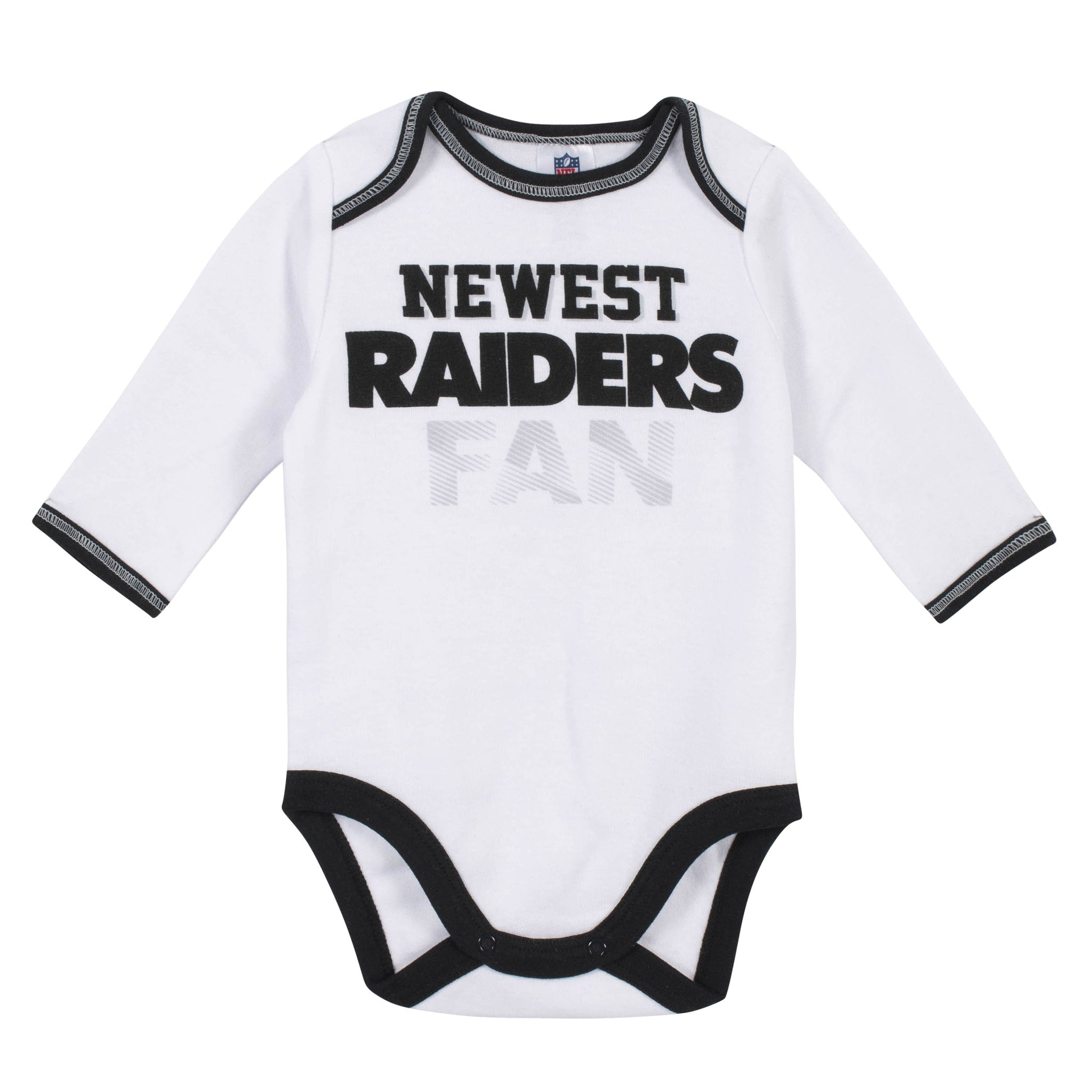 Baby Boys Oakland Raiders 3-Piece Bodysuit, Pant and Cap Set