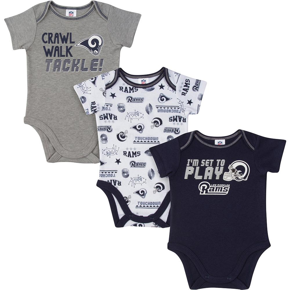 Rams Baby Boys 3-Pack Short Sleeve Bodysuit-Gerber Childrenswear
