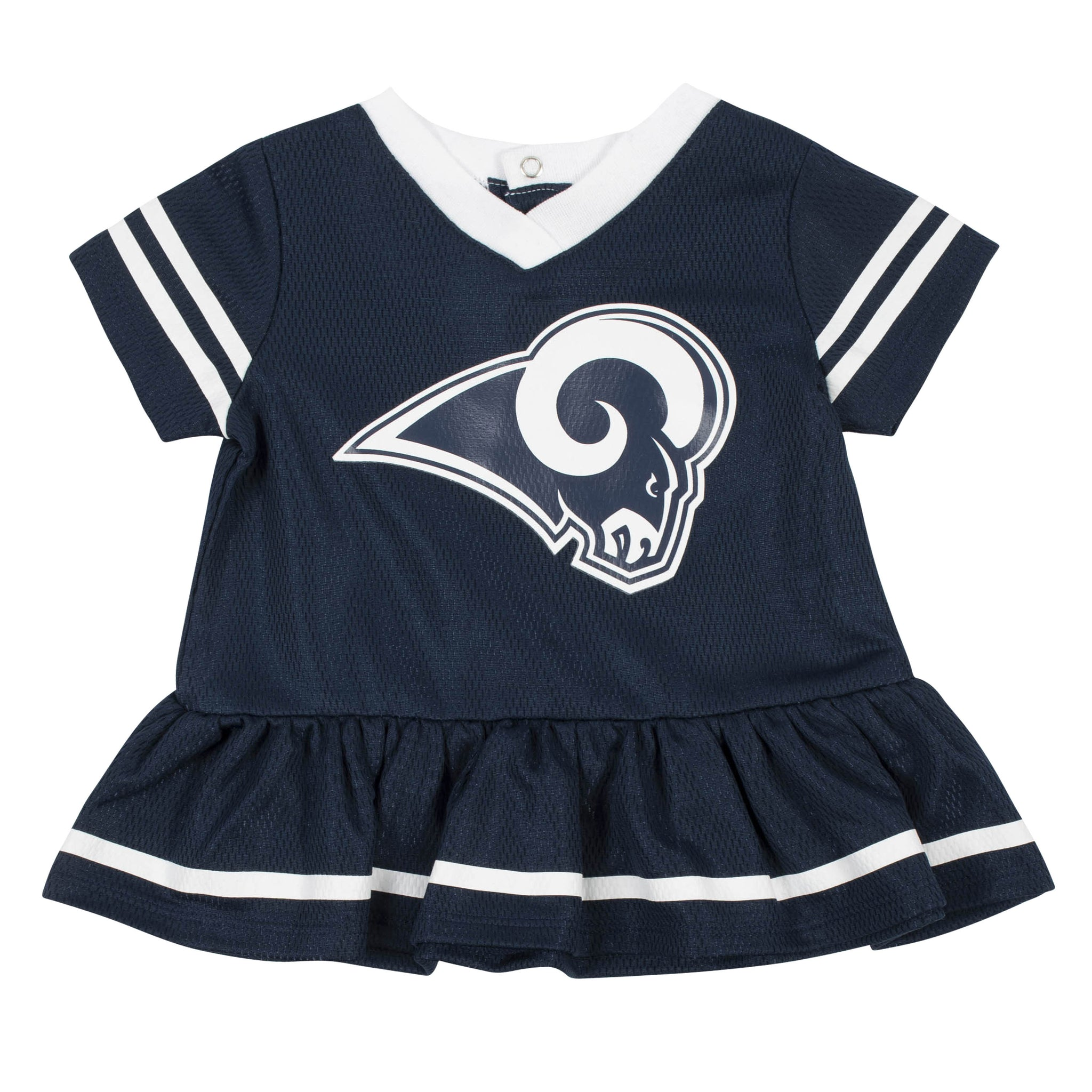 Baby Girls Los Angeles Rams Cheerleader Dress and Panty Set-Gerber Childrenswear