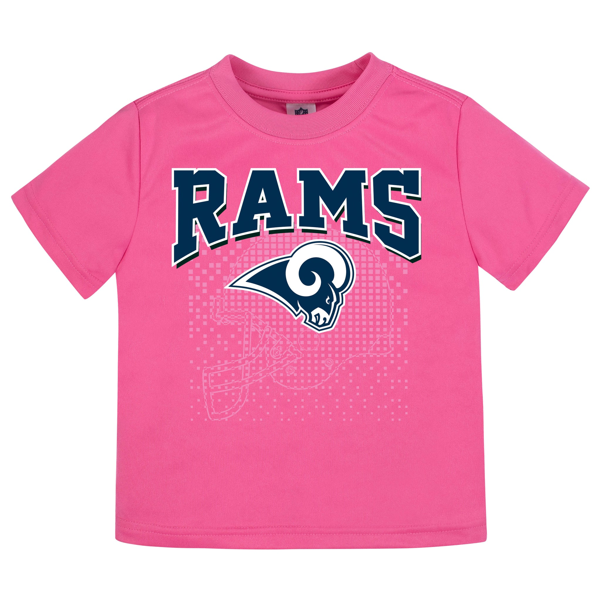 LA Rams Girls Short Sleeve Tee Shirt-Gerber Childrenswear