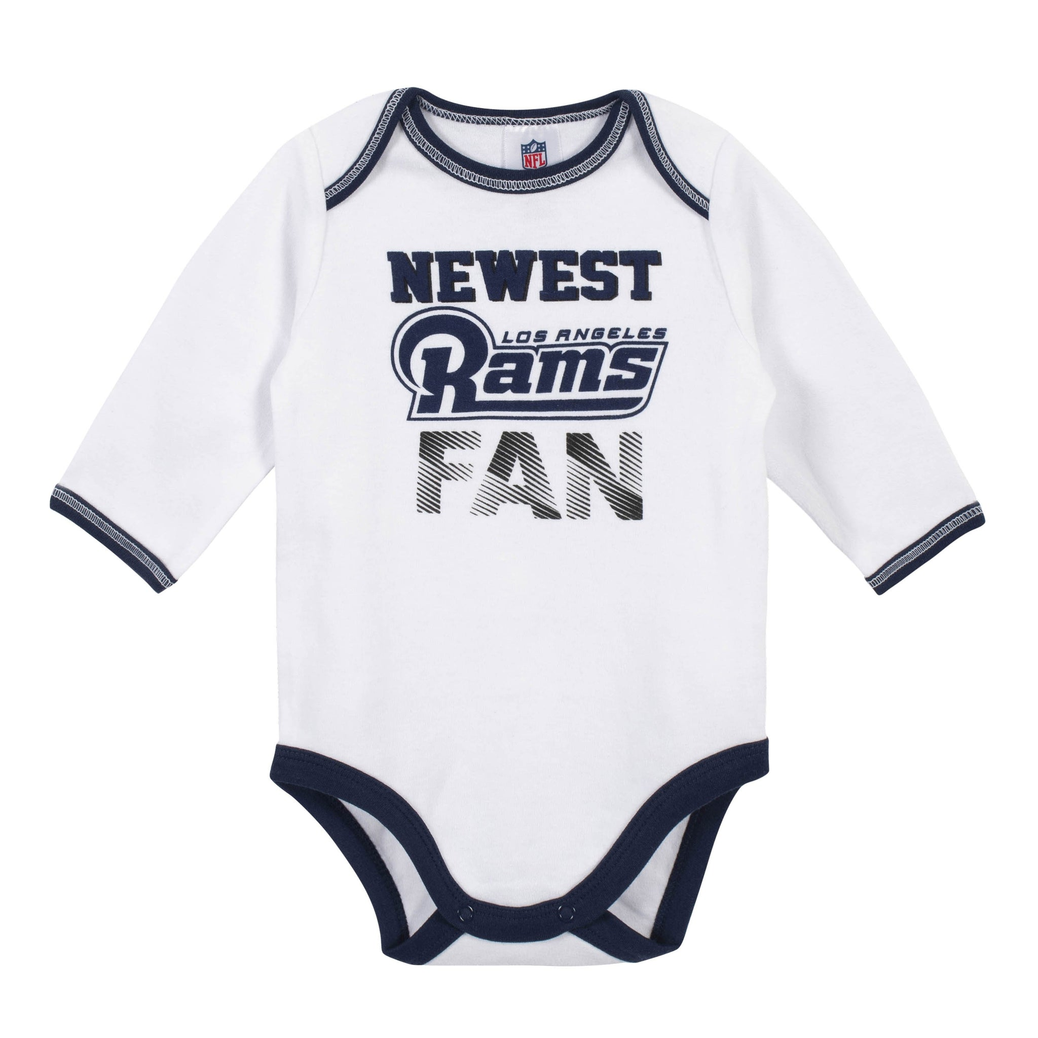 Baby Boys Los Angeles Rams 3-Piece Bodysuit, Pant and Cap Set-Gerber Childrenswear