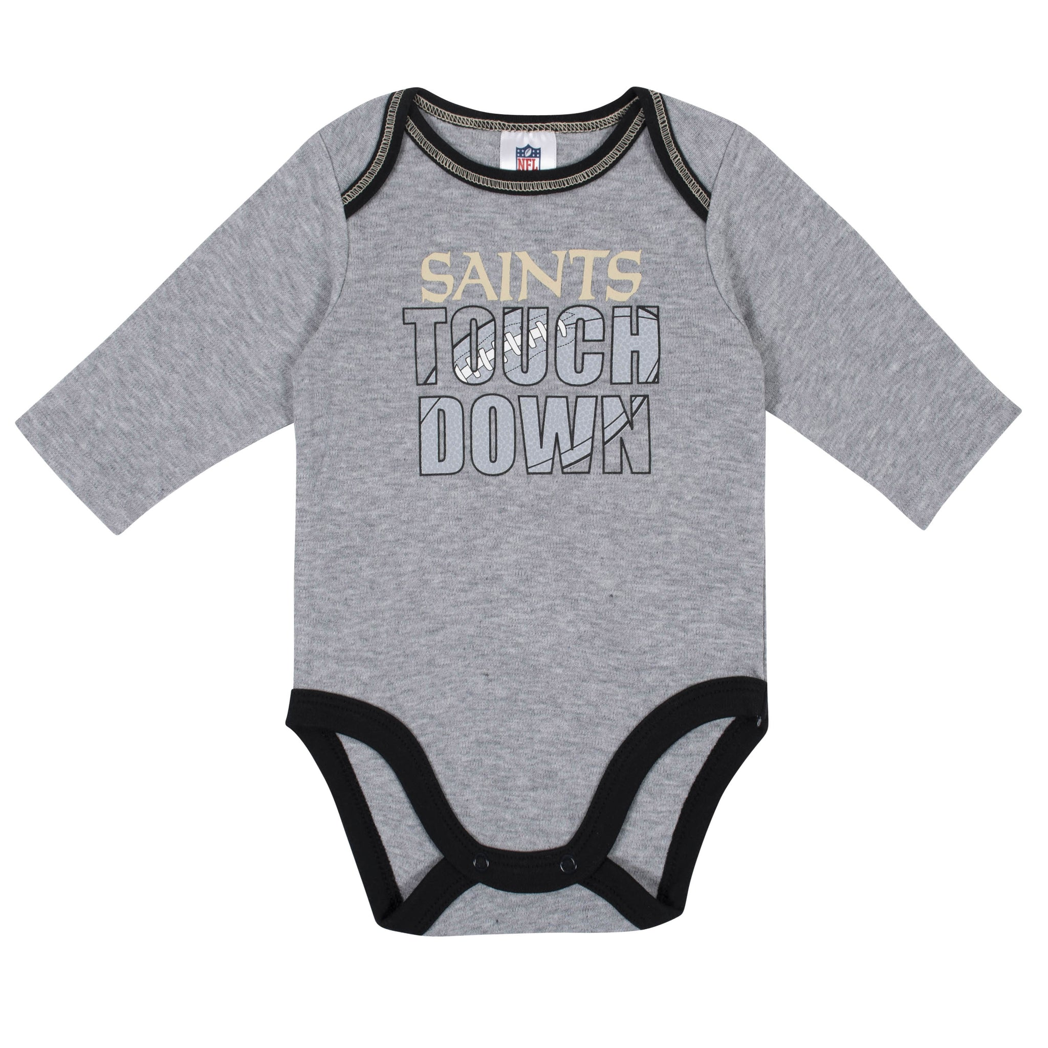 Baby Boys New Orleans Saints Long Sleeve Bodysuit, 2-pack -Gerber Childrenswear