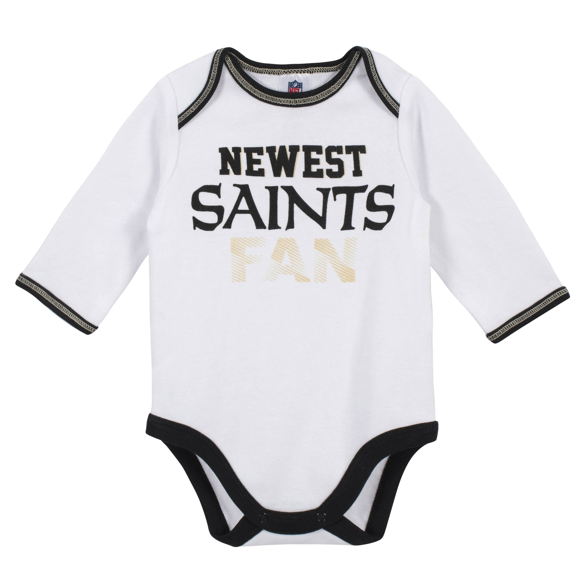 Baby Boys New Orleans Saints 3-Piece Bodysuit, Pant and Cap Set