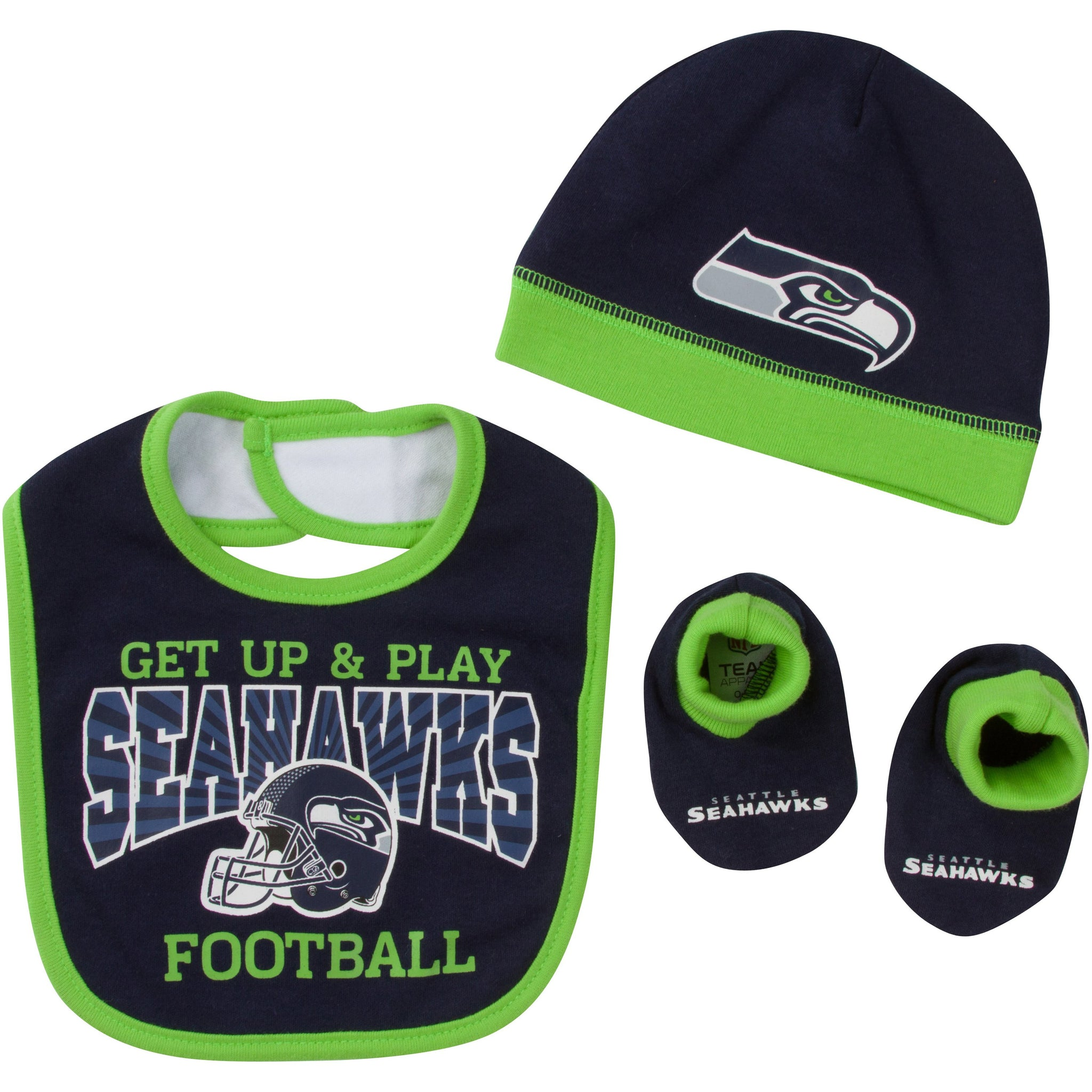 Seattle Seahawks Baby Boy Accessories, 3pc Set