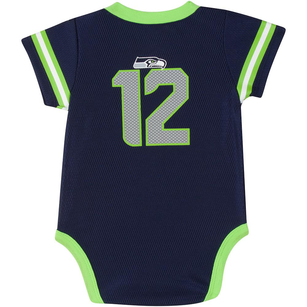Seahawks Baby Boy Jersey Bodysuit-Gerber Childrenswear
