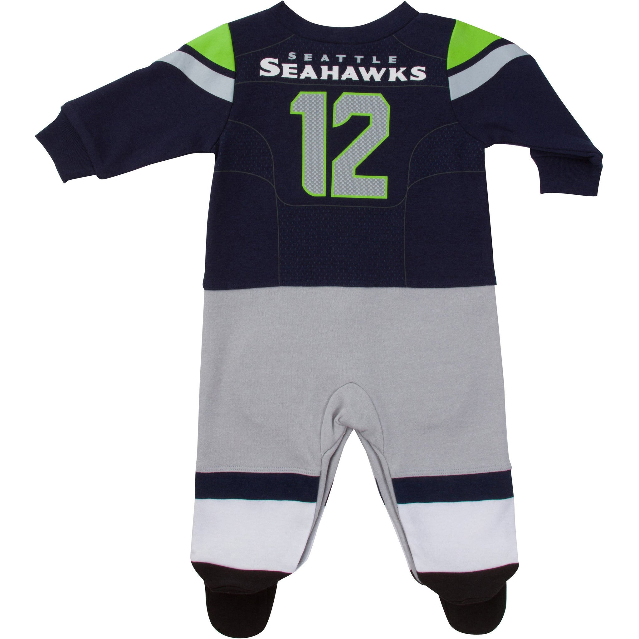 Seattle Seahawks Baby Boys Footed Footysuit