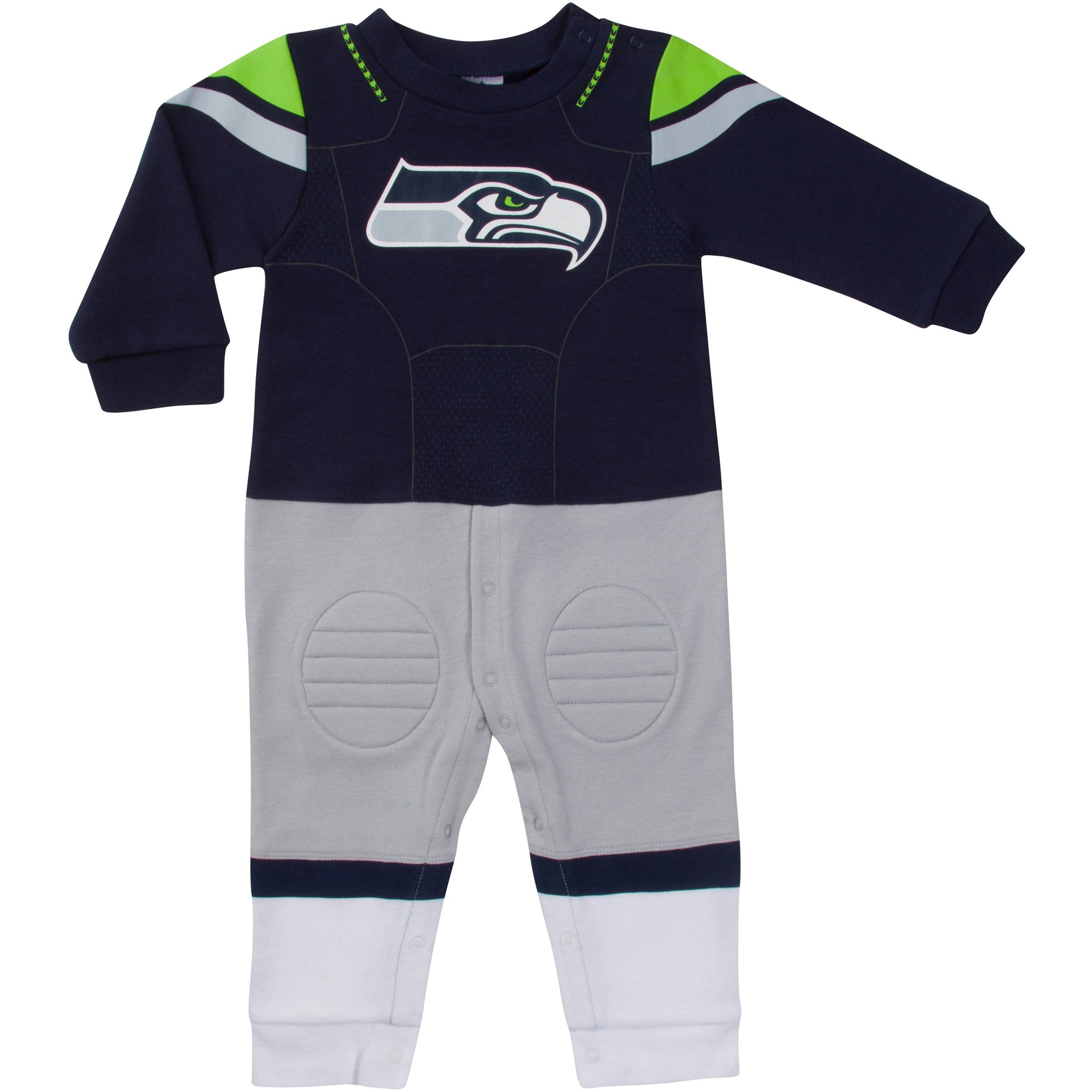 Seattle Seahawks Baby Boys Footysuit-Gerber Childrenswear