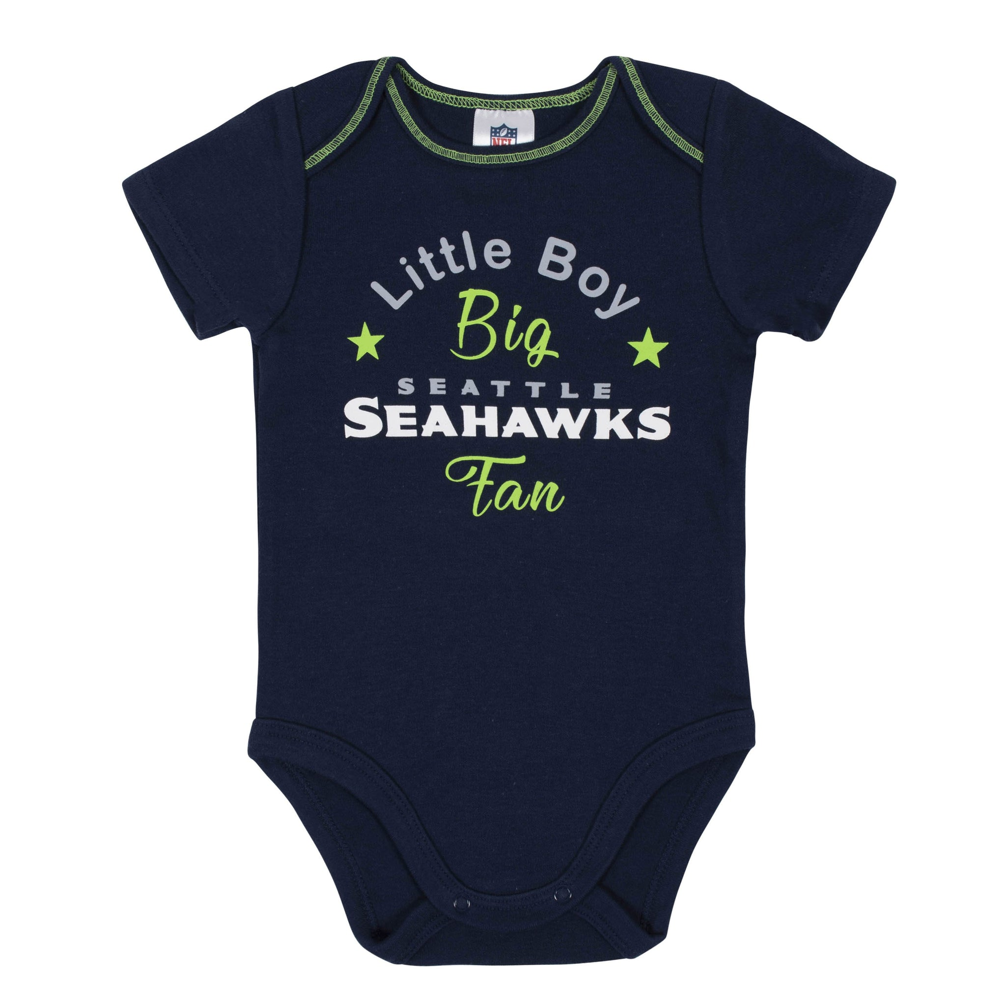 Baby Boys 3-Piece Seattle Seahawks Bodysuit, Gown, and Cap Set