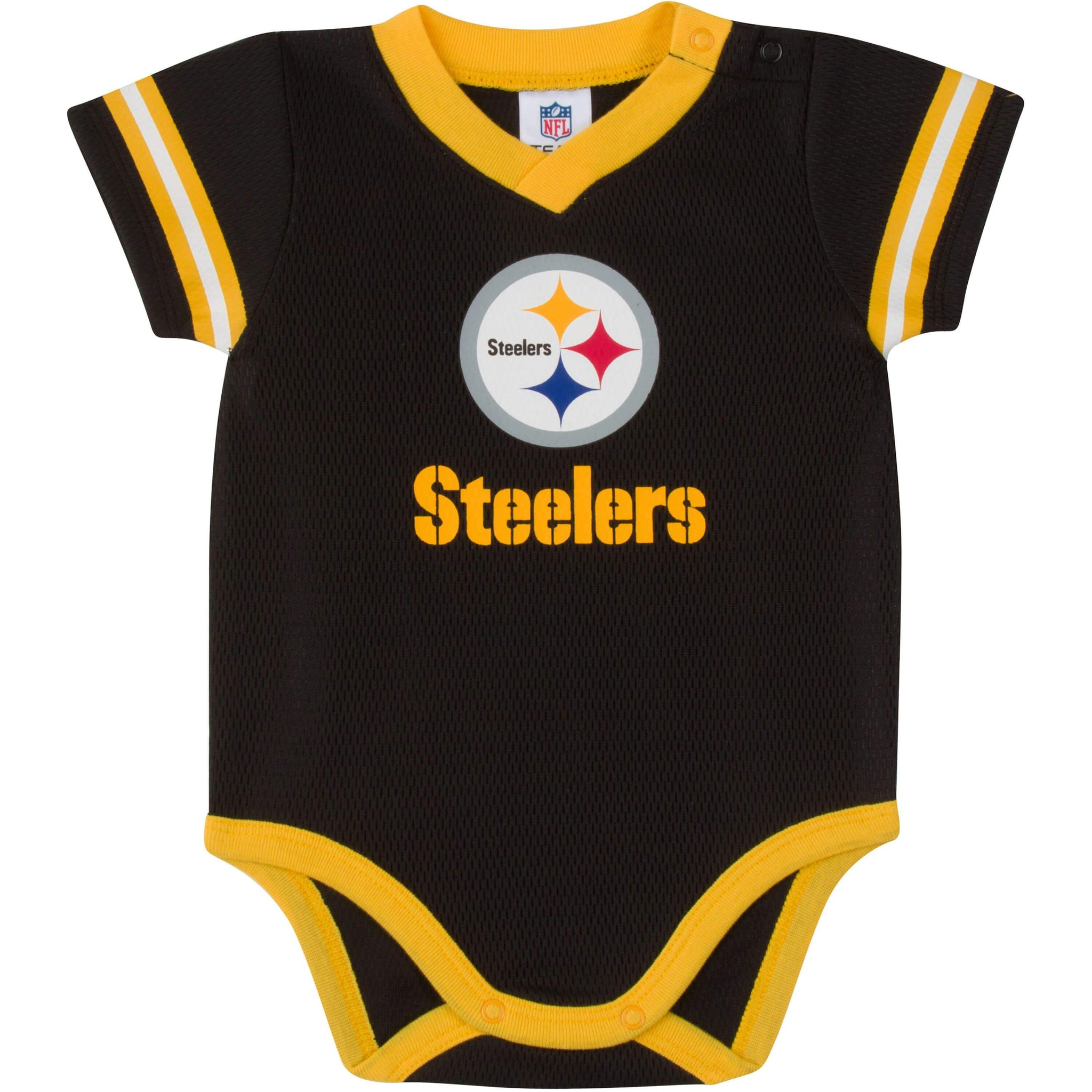 Baby Boys Pittsburgh Steelers Short Sleeve Jersey Bodysuit-Gerber Childrenswear