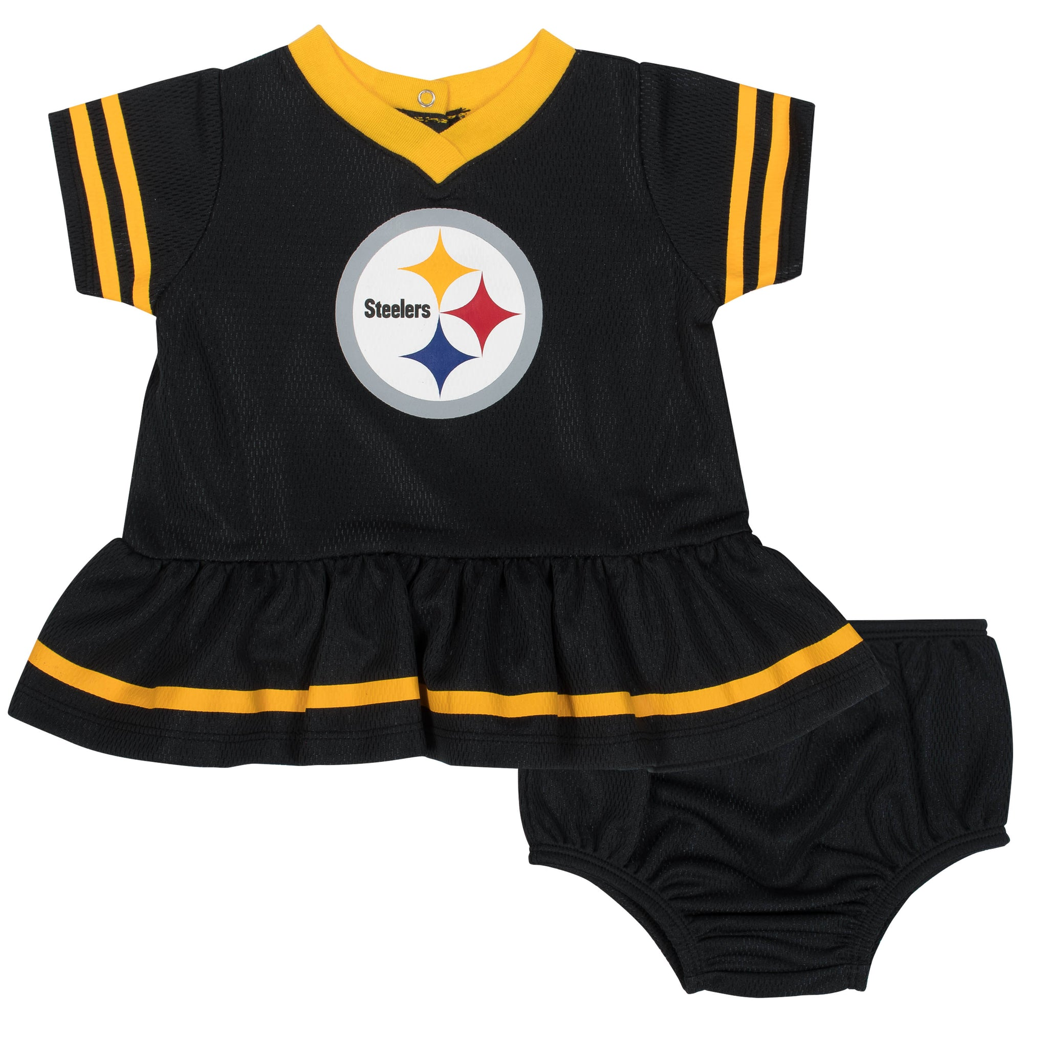 Baby Girls Pittsburgh Steelers Cheerleader Dress and Panty Set-Gerber Childrenswear