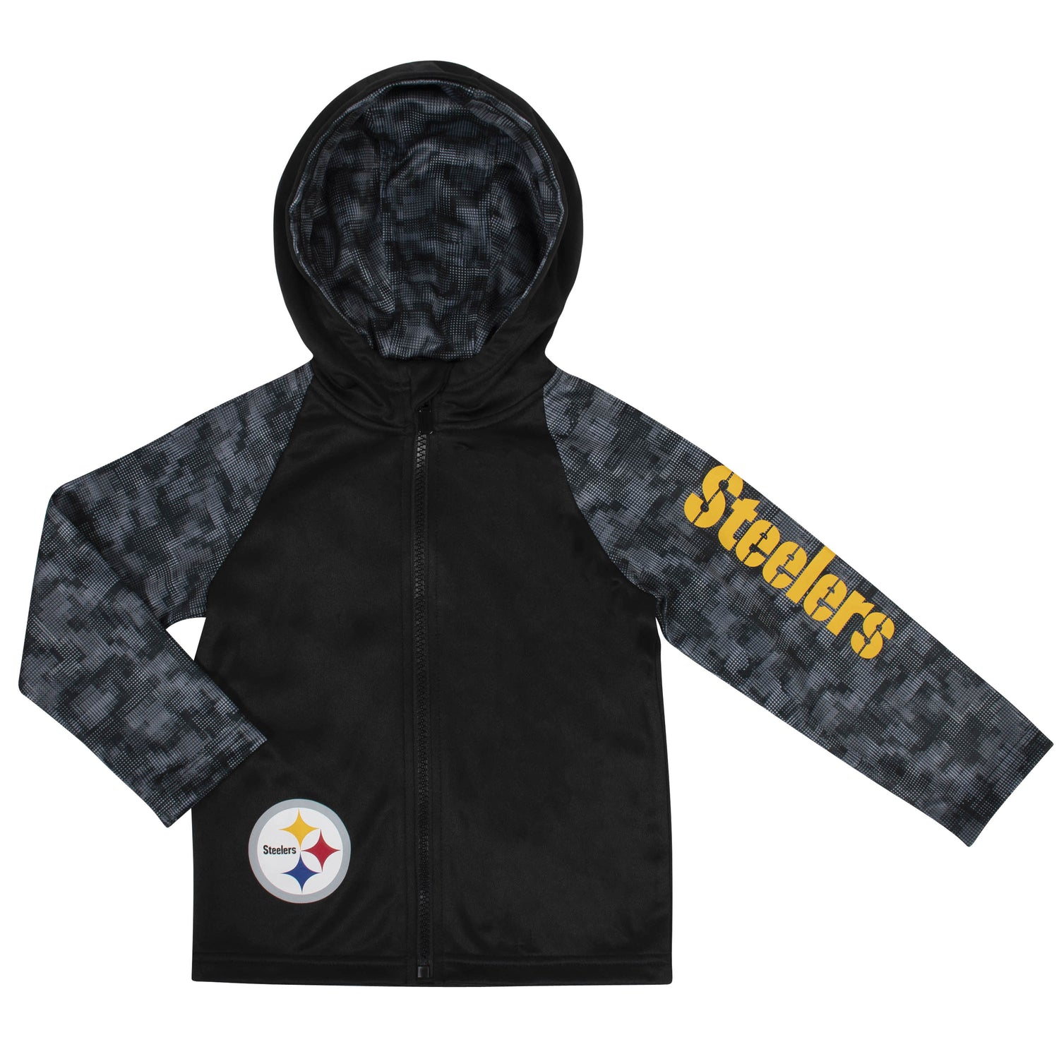 reputable site a7b39 fb365 Toddler Boys Pittsburgh Steelers Hooded Jacket