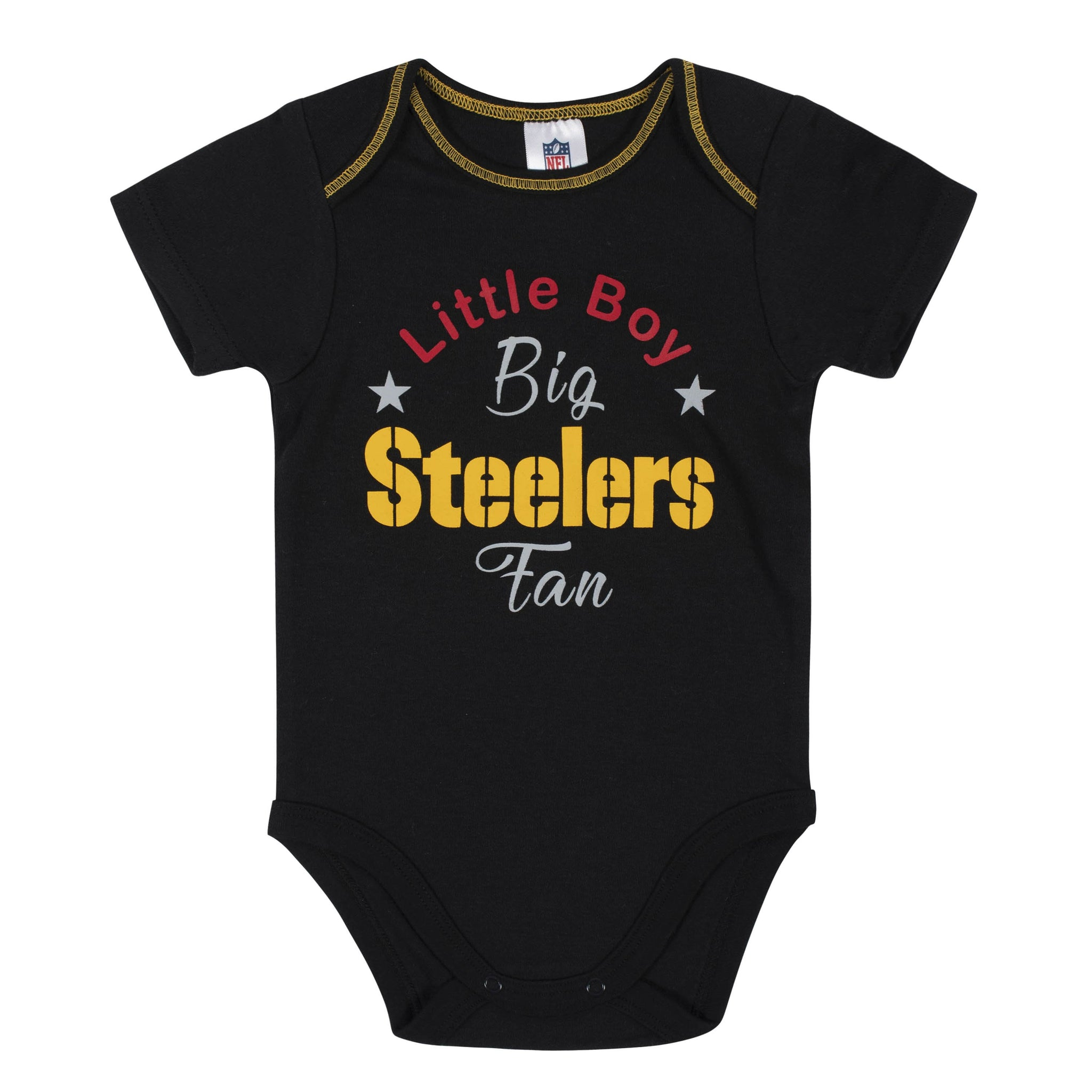 Baby Boys 3-Piece Pittsburgh Steelers Bodysuit, Gown, and Cap Set
