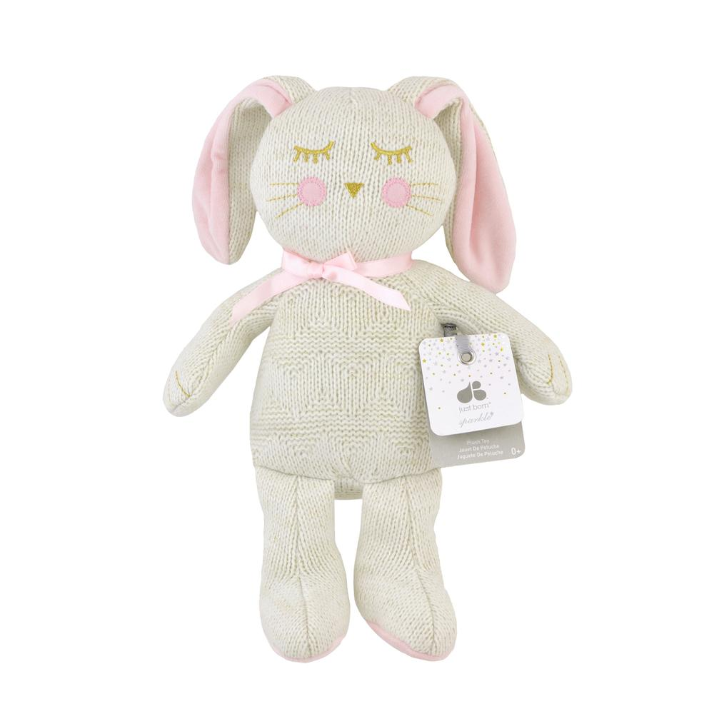 Just Born® Sparkle Sweater Knit Plush Bunny-Gerber Childrenswear