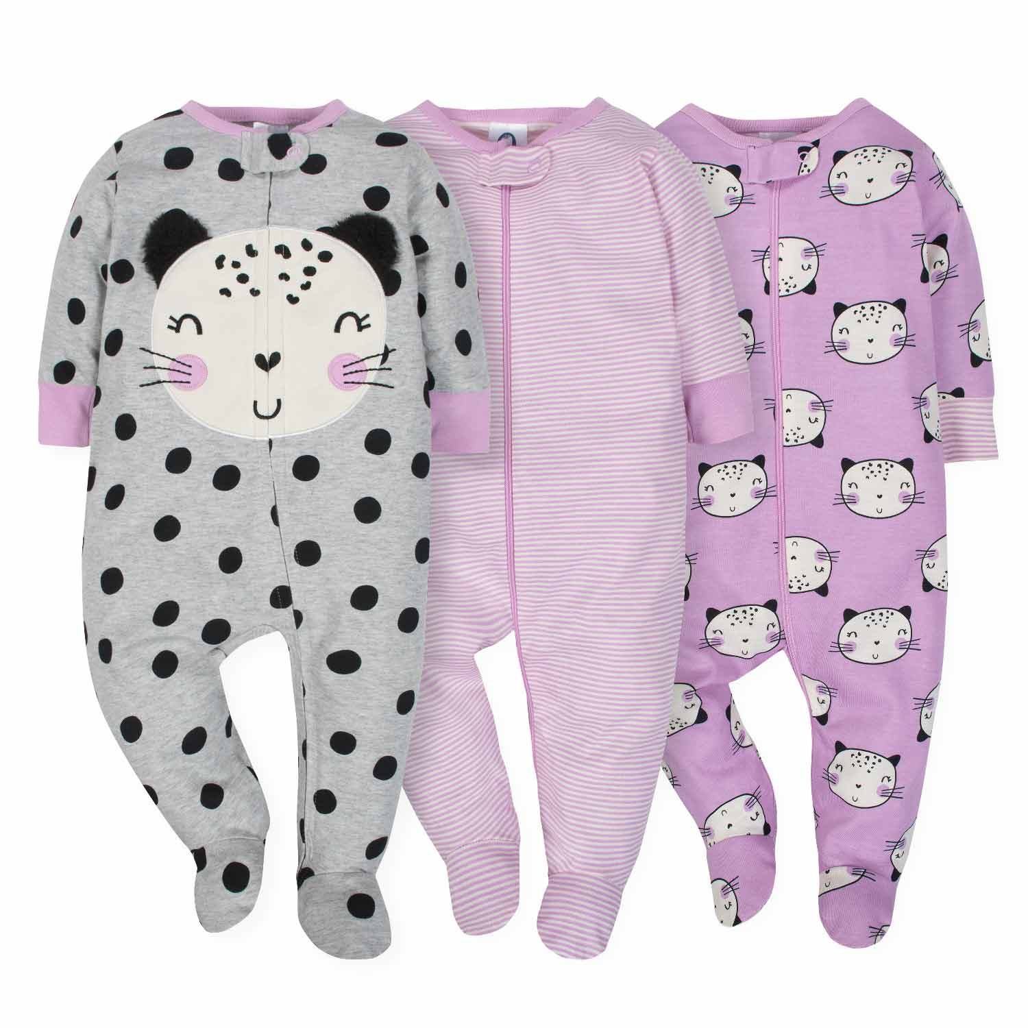 3-Pack Girls Cat Sleep N' Play