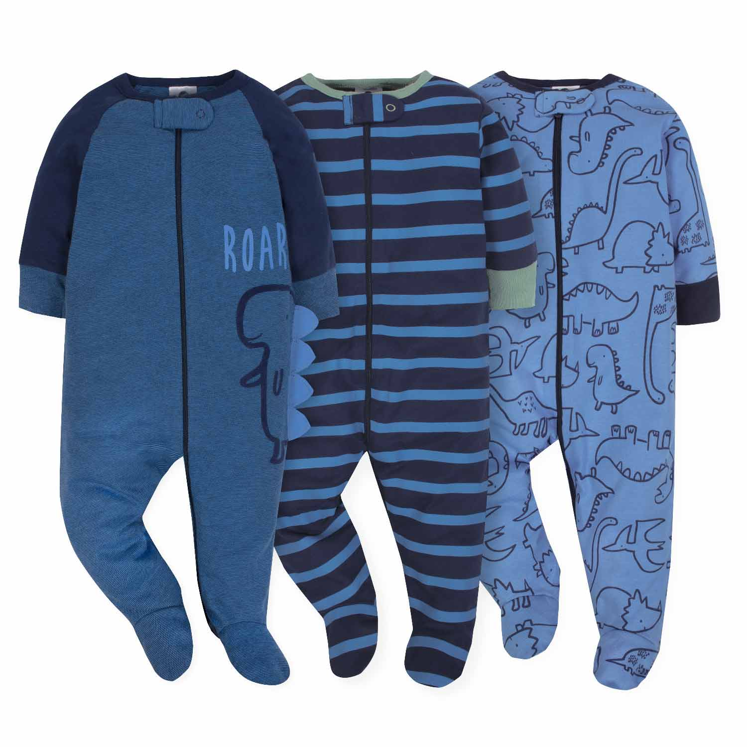 3-Pack Boys Dinosaur Sleep N' Play