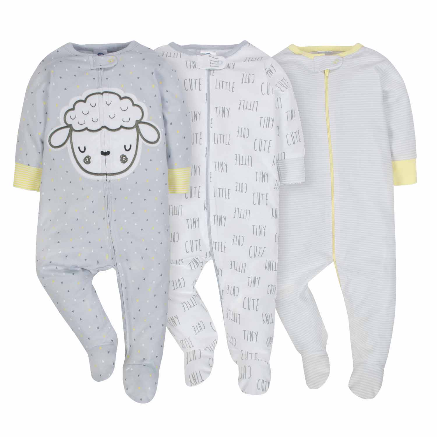 3-Pack Neutral Sheep Sleep N' Play