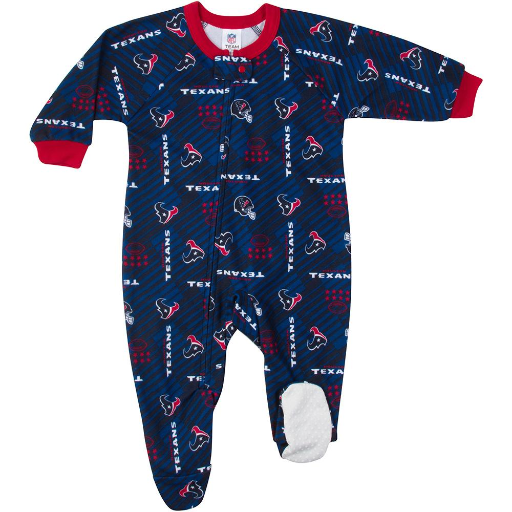 Texans Baby Boy Blanket Sleeper-Gerber Childrenswear