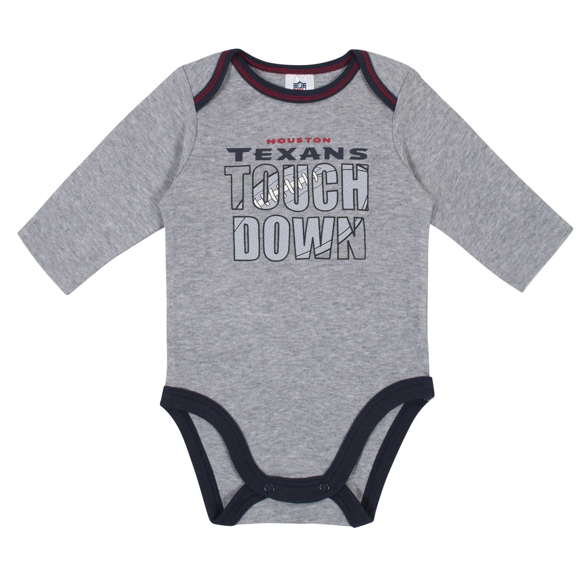 Baby Boys Houston Texans Long Sleeve Bodysuit, 2-pack