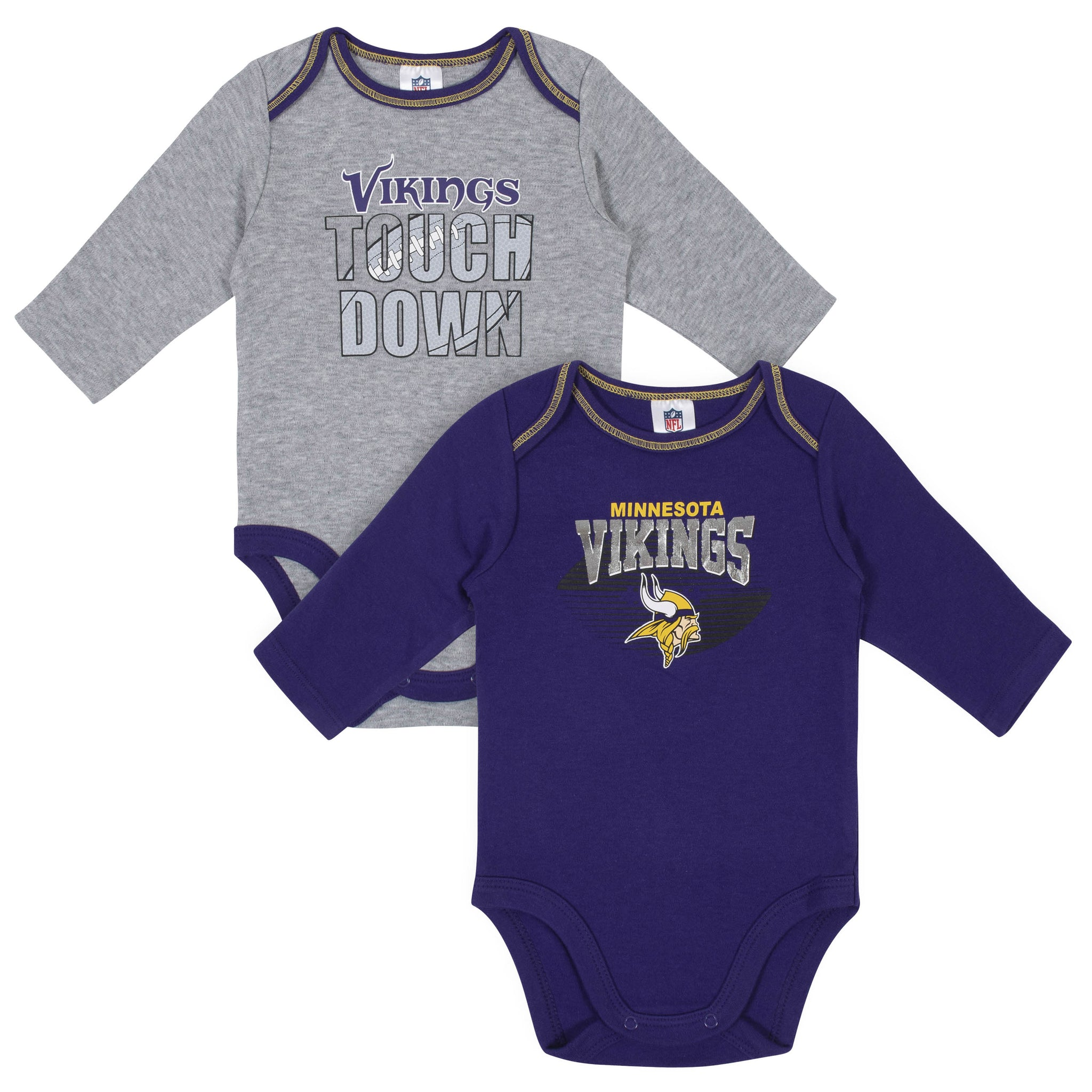 Baby Boys Minnesota Vikings Long Sleeve Bodysuit, 2-pack