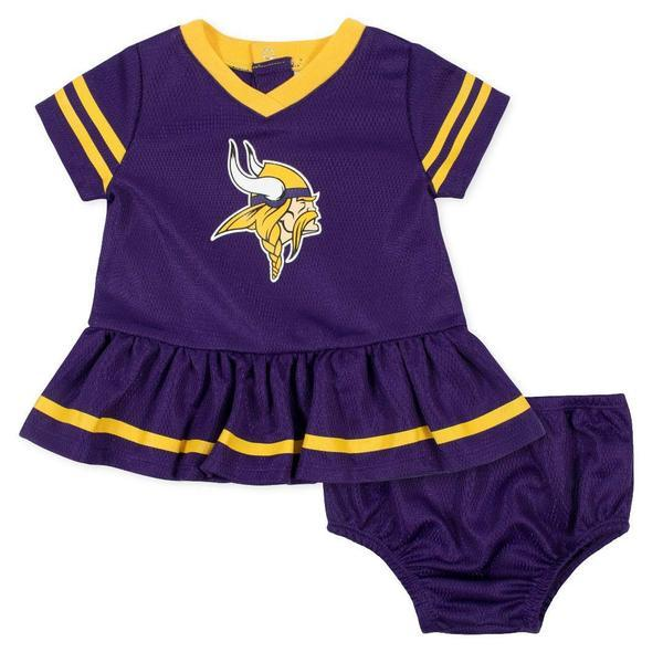 Baby Girls Minnesota Vikings Cheerleader Dress and Panty Set