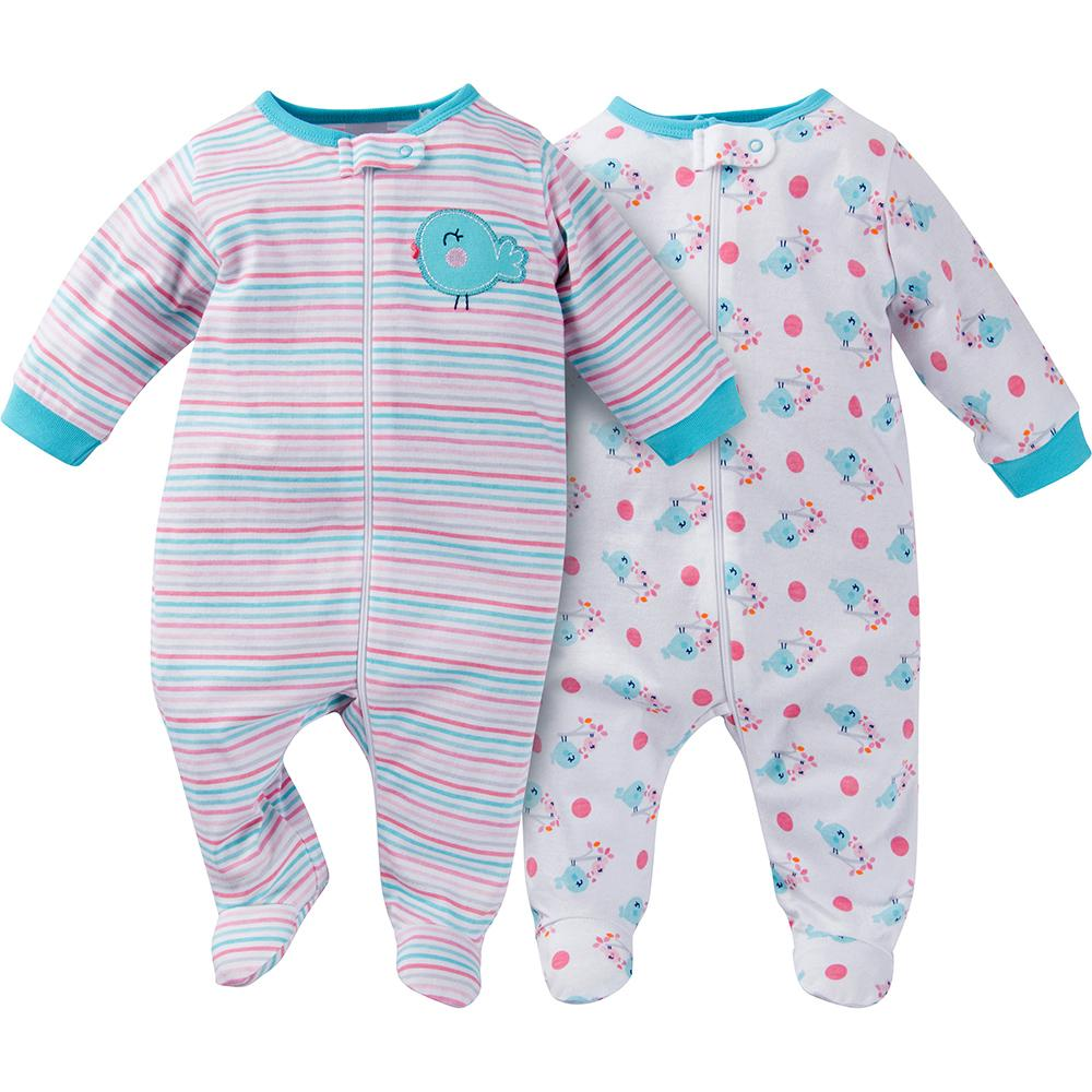 2-Pack Girls Little Bird Sleep N' Play-Gerber Childrenswear