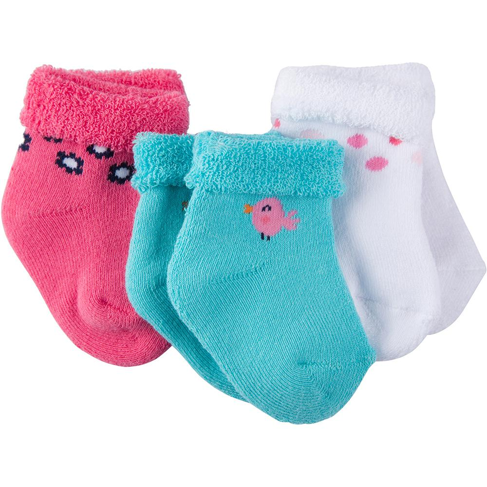3-Pack Girls Little Bird Terry Socks-Gerber Childrenswear