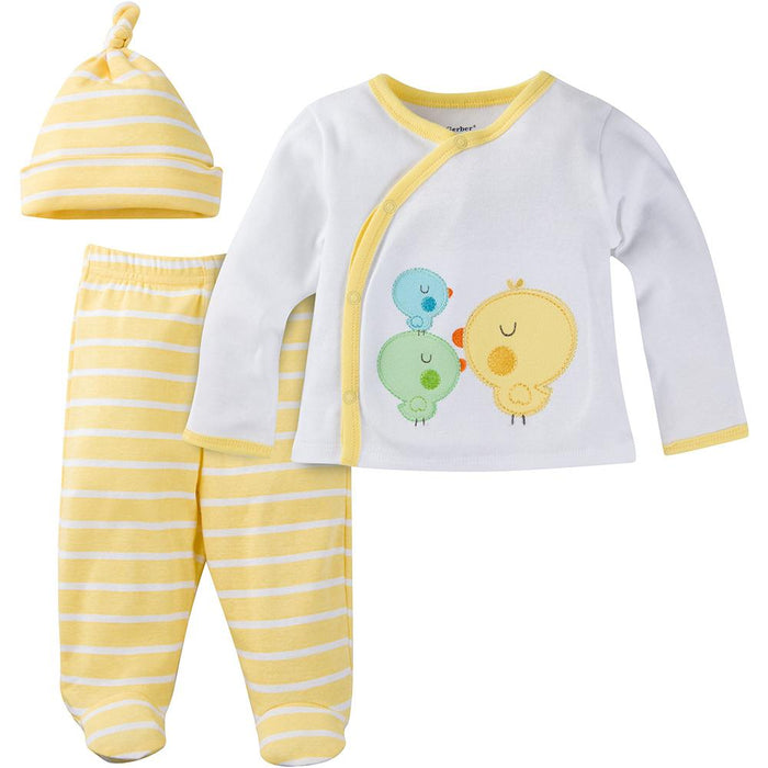 37e189236 3-Piece Newborn Yellow Ducks Take-Me-Home Set – Gerber Childrenswear