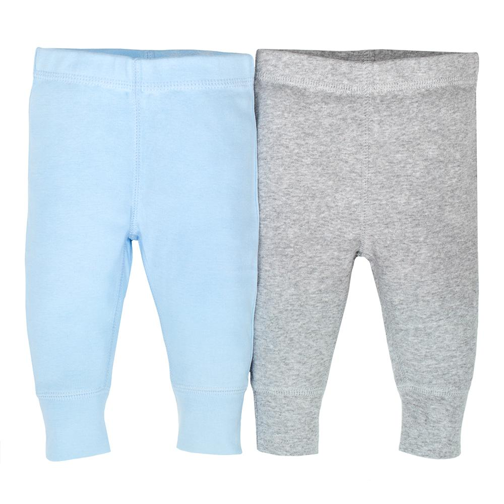 2-pack Organic Boys Blue & Grey Active Pant