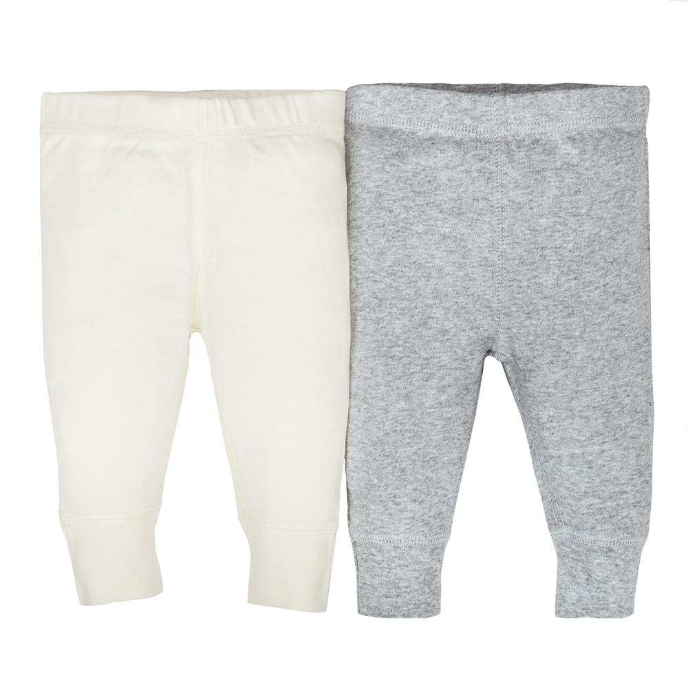 2-pack Organic Neutral Off-White & Grey Active Pant