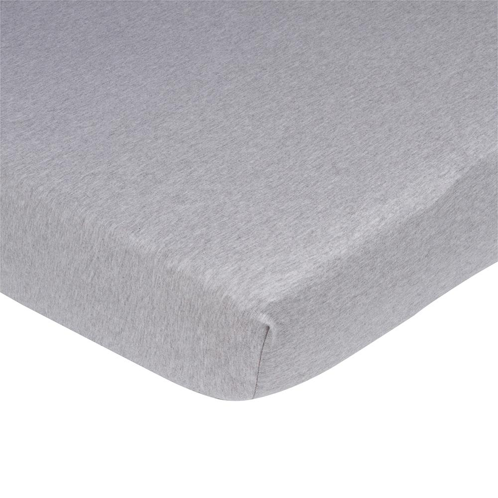 1-Pack Neutral Grey Organic Crib Sheet